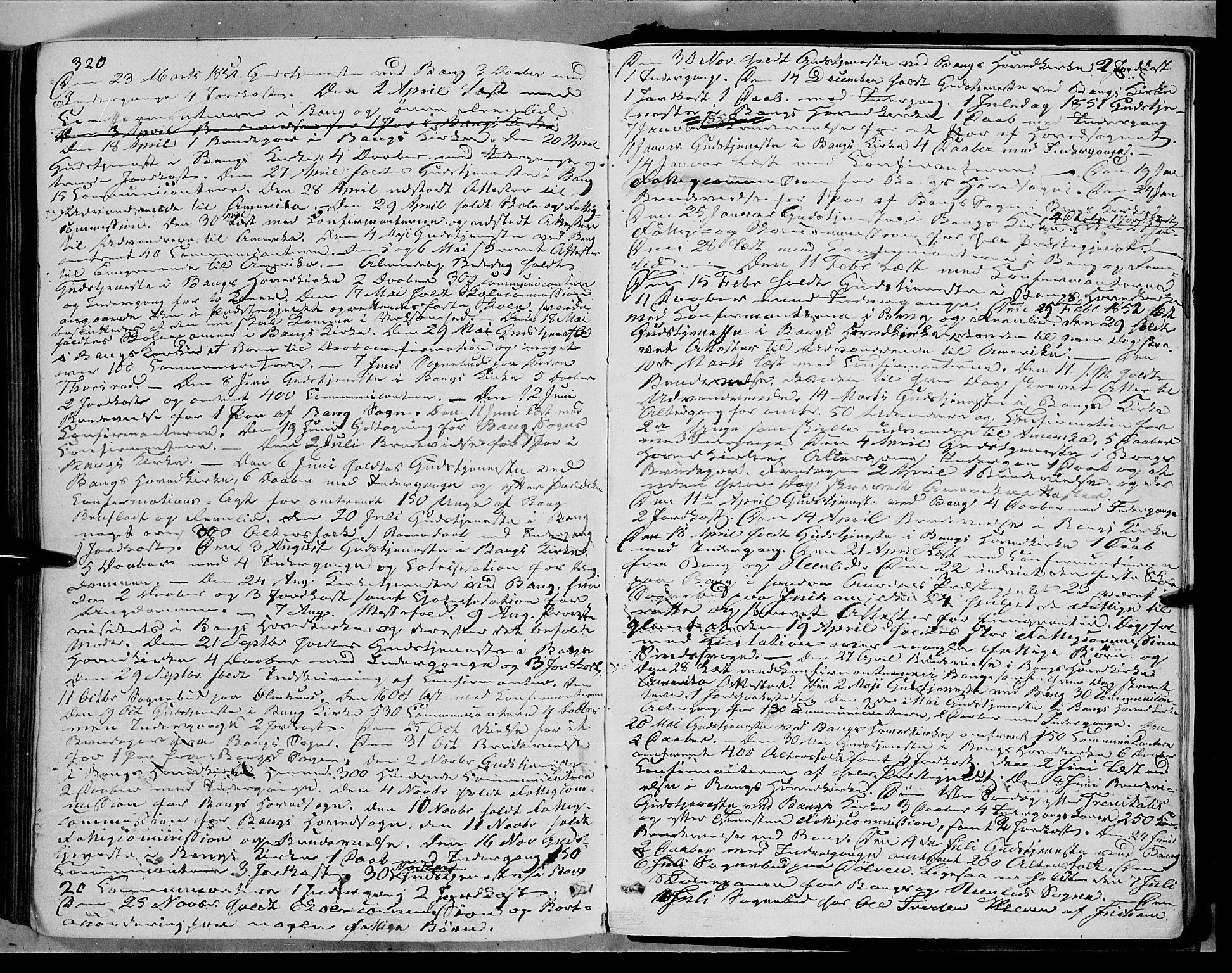 SAH, Sør-Aurdal prestekontor, Ministerialbok nr. 5, 1849-1876, s. 320