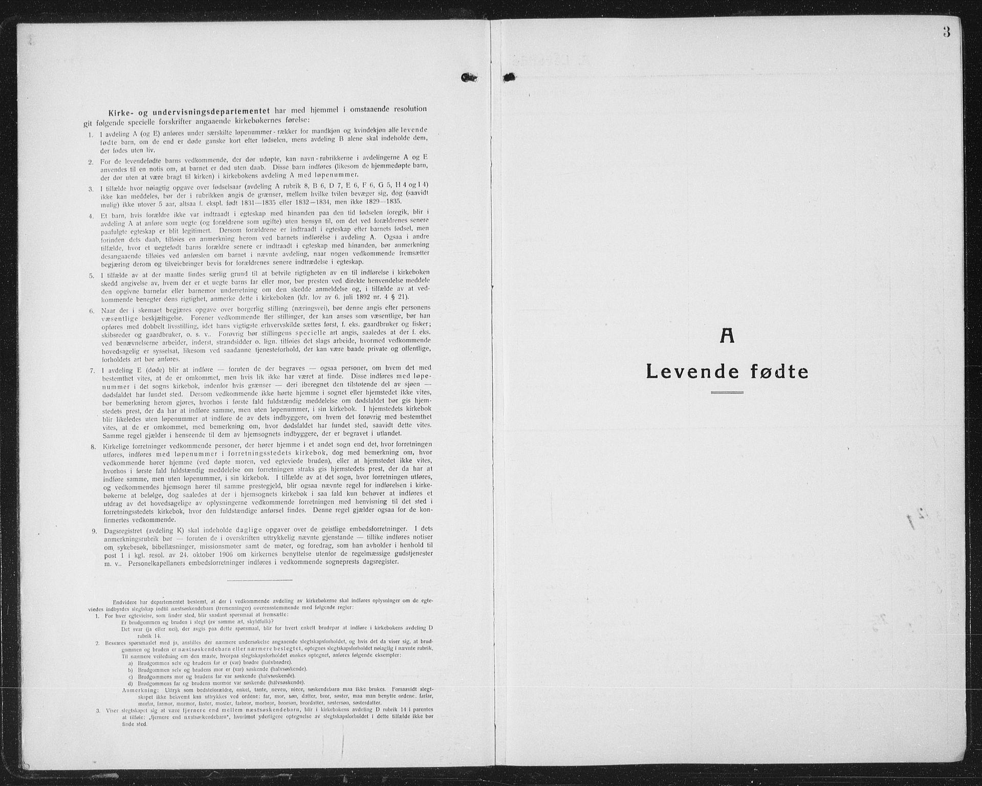 SAT, Ministerialprotokoller, klokkerbøker og fødselsregistre - Nordland, 804/L0089: Klokkerbok nr. 804C02, 1918-1935, s. 3
