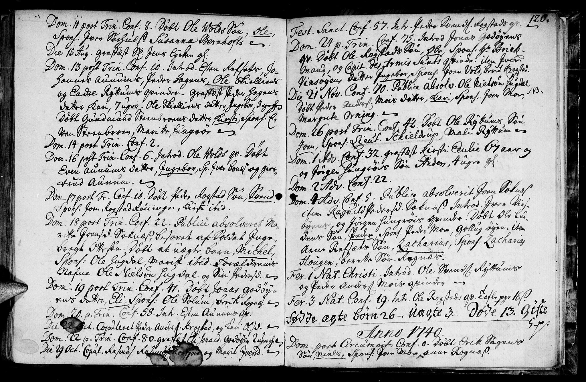 SAT, Ministerialprotokoller, klokkerbøker og fødselsregistre - Sør-Trøndelag, 687/L0990: Ministerialbok nr. 687A01, 1690-1746, s. 120