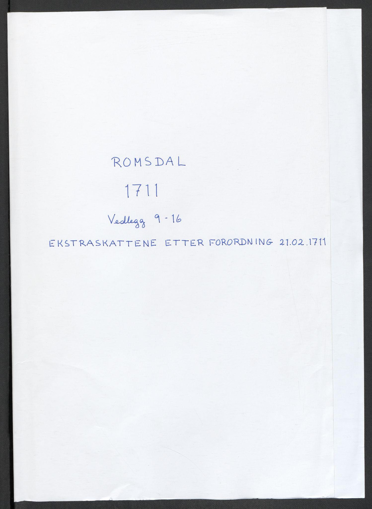 RA, Rentekammeret inntil 1814, Reviderte regnskaper, Fogderegnskap, R55/L3660: Fogderegnskap Romsdal, 1711, s. 129