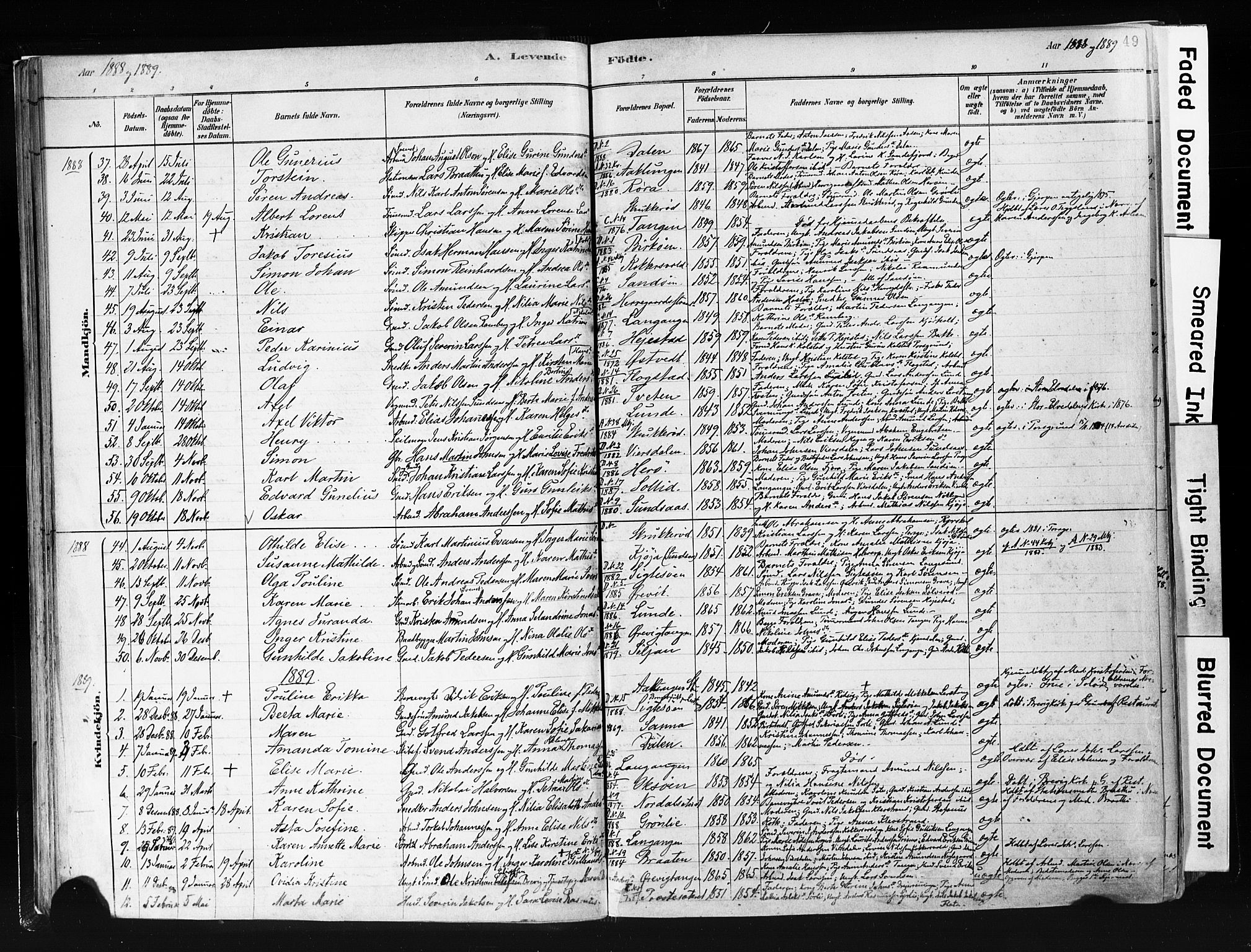 SAKO, Eidanger kirkebøker, F/Fa/L0012: Ministerialbok nr. 12, 1879-1900, s. 49