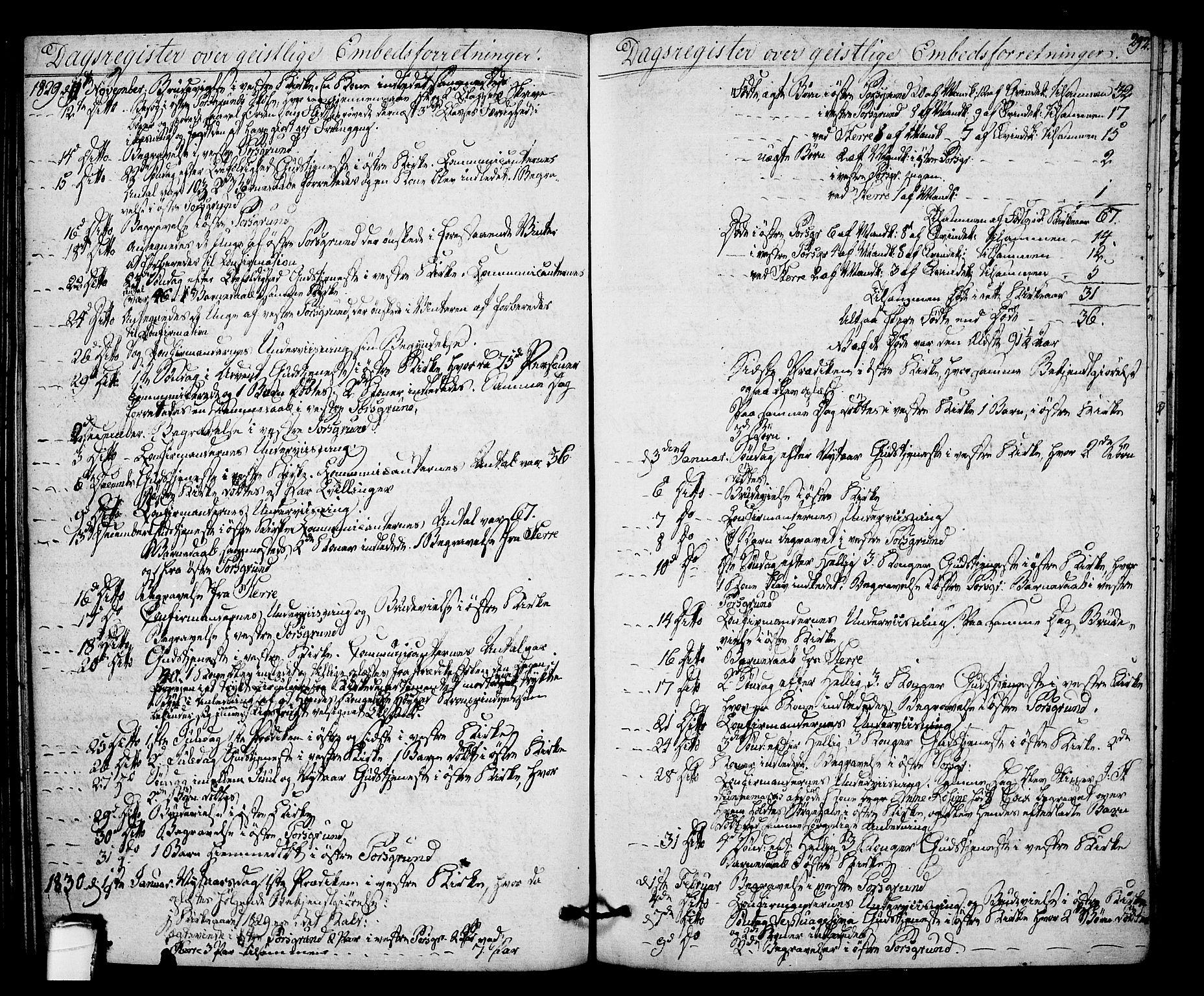 SAKO, Porsgrunn kirkebøker , F/Fa/L0005: Ministerialbok nr. 5, 1828-1840, s. 292