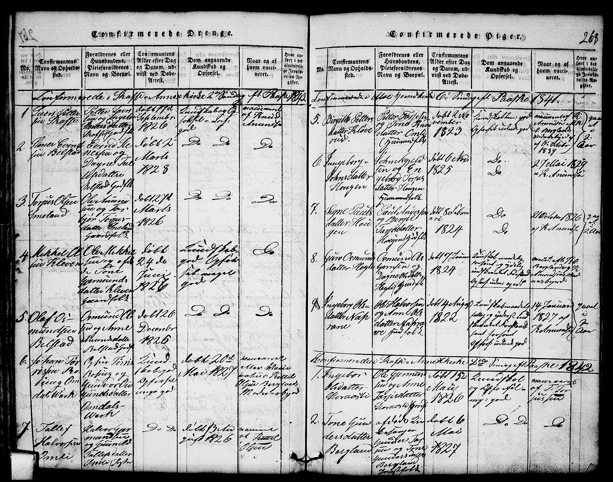 SAKO, Mo kirkebøker, G/Gb/L0001: Klokkerbok nr. II 1, 1814-1843, s. 268