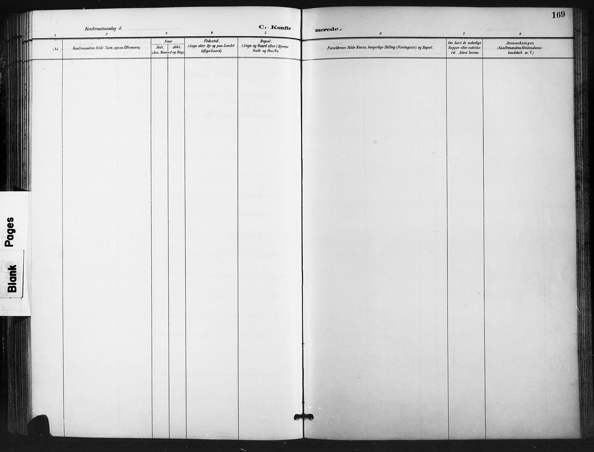 SAH, Vestre Gausdal prestekontor, Klokkerbok nr. 3, 1896-1925, s. 169