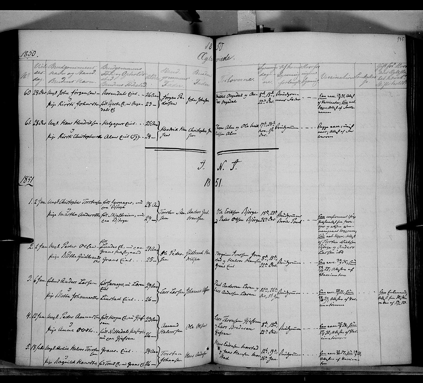 SAH, Gran prestekontor, Ministerialbok nr. 11, 1842-1856, s. 934-935