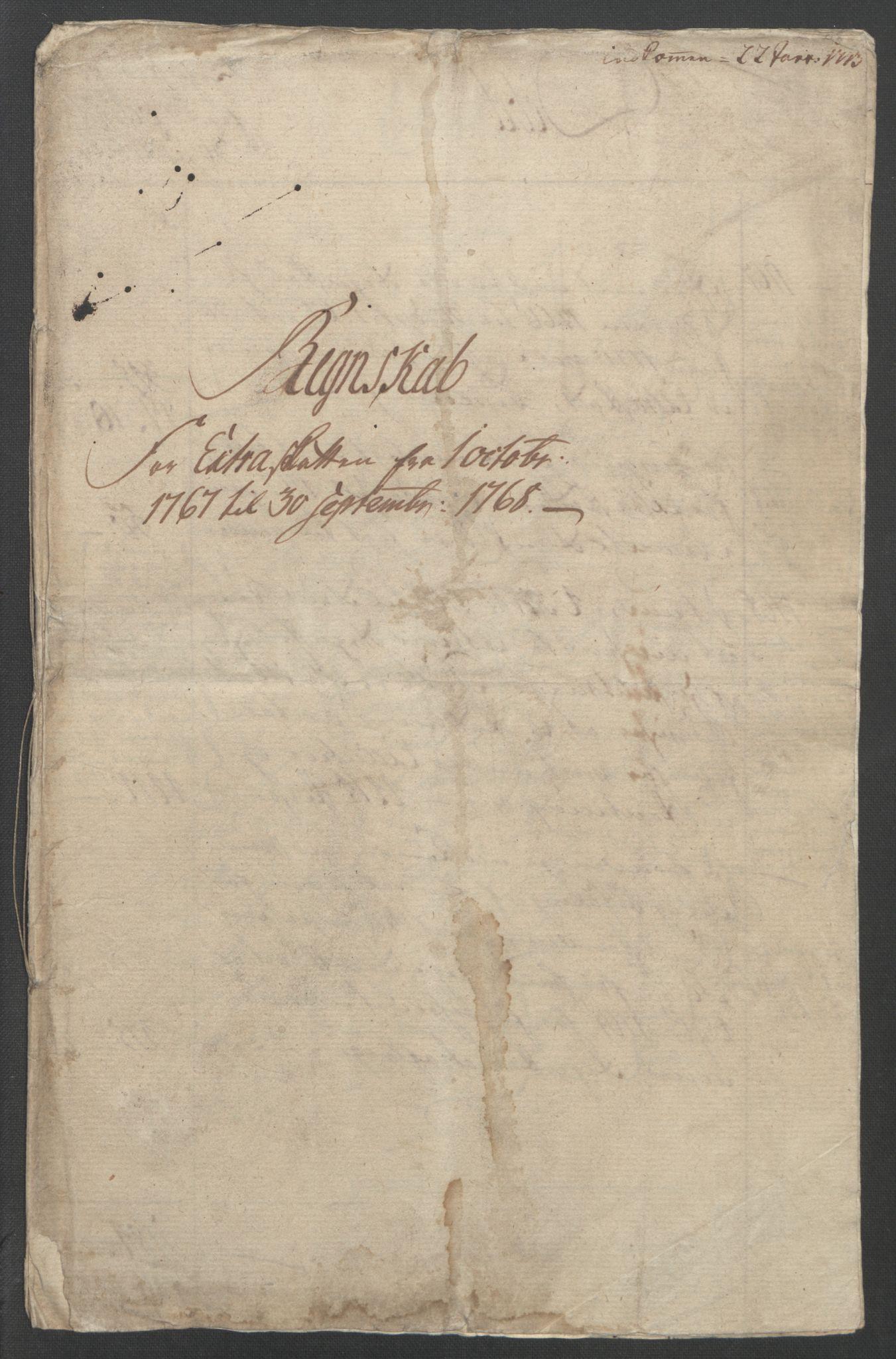 RA, Rentekammeret inntil 1814, Reviderte regnskaper, Fogderegnskap, R45/L2704: Ekstraskatten Lista og Mandal, 1762-1768, s. 285