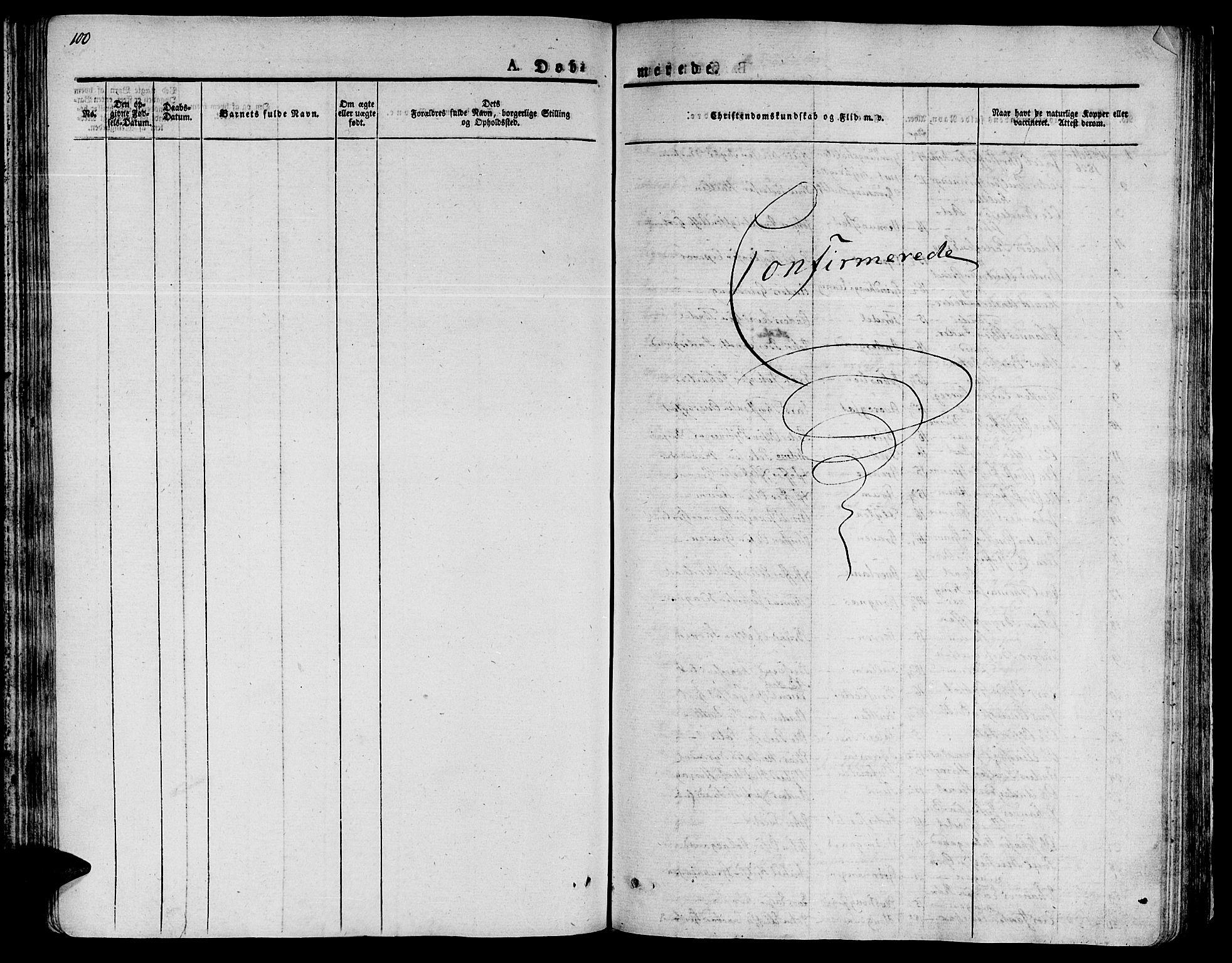 SAT, Ministerialprotokoller, klokkerbøker og fødselsregistre - Sør-Trøndelag, 646/L0609: Ministerialbok nr. 646A07, 1826-1838, s. 100