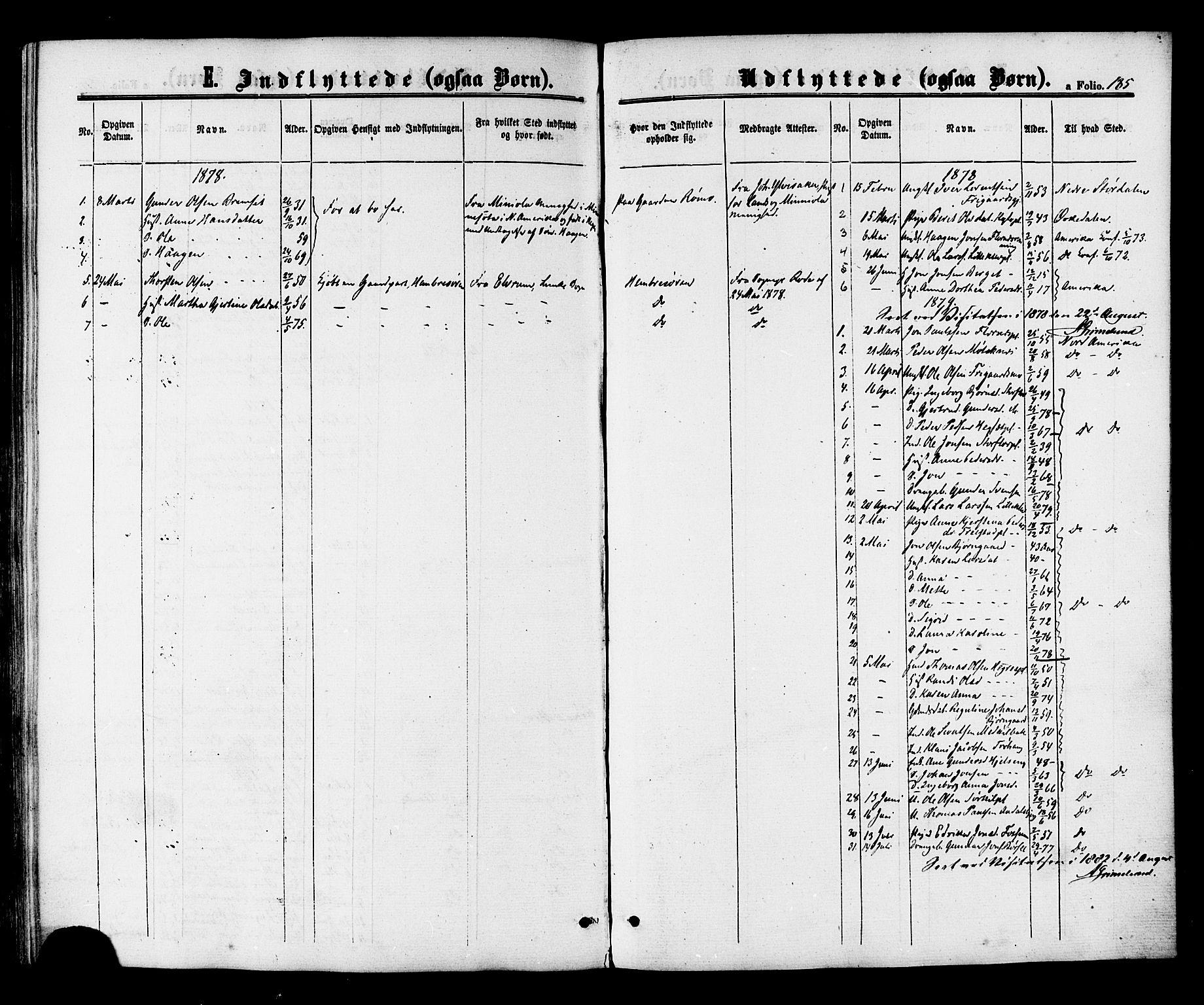 SAT, Ministerialprotokoller, klokkerbøker og fødselsregistre - Nord-Trøndelag, 703/L0029: Ministerialbok nr. 703A02, 1863-1879, s. 185