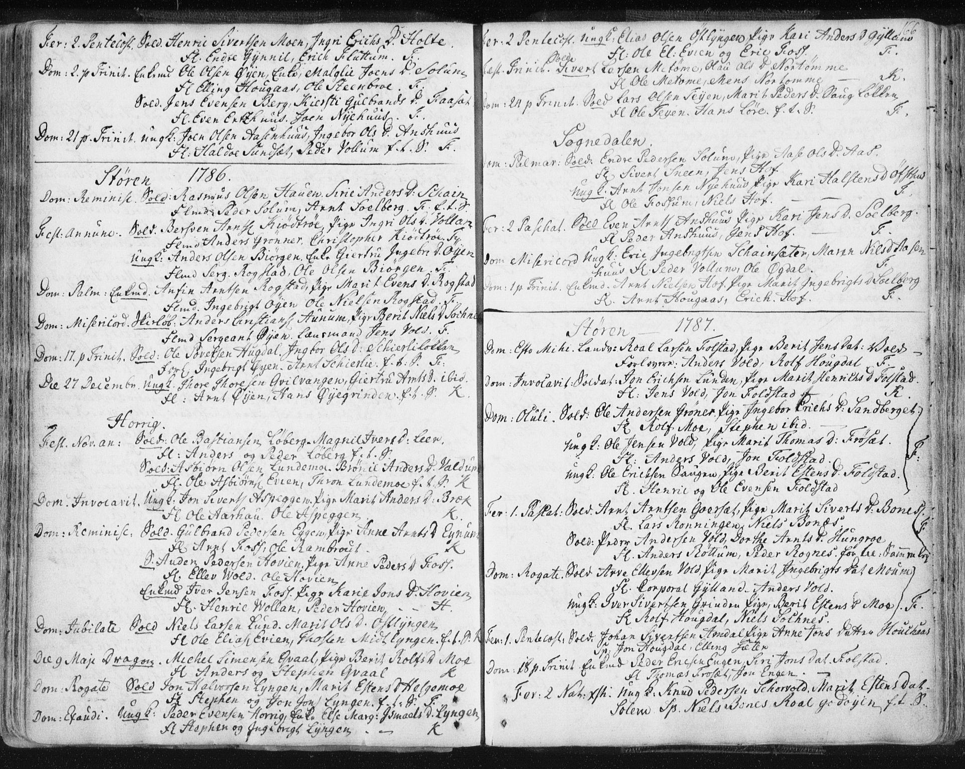 SAT, Ministerialprotokoller, klokkerbøker og fødselsregistre - Sør-Trøndelag, 687/L0991: Ministerialbok nr. 687A02, 1747-1790, s. 166