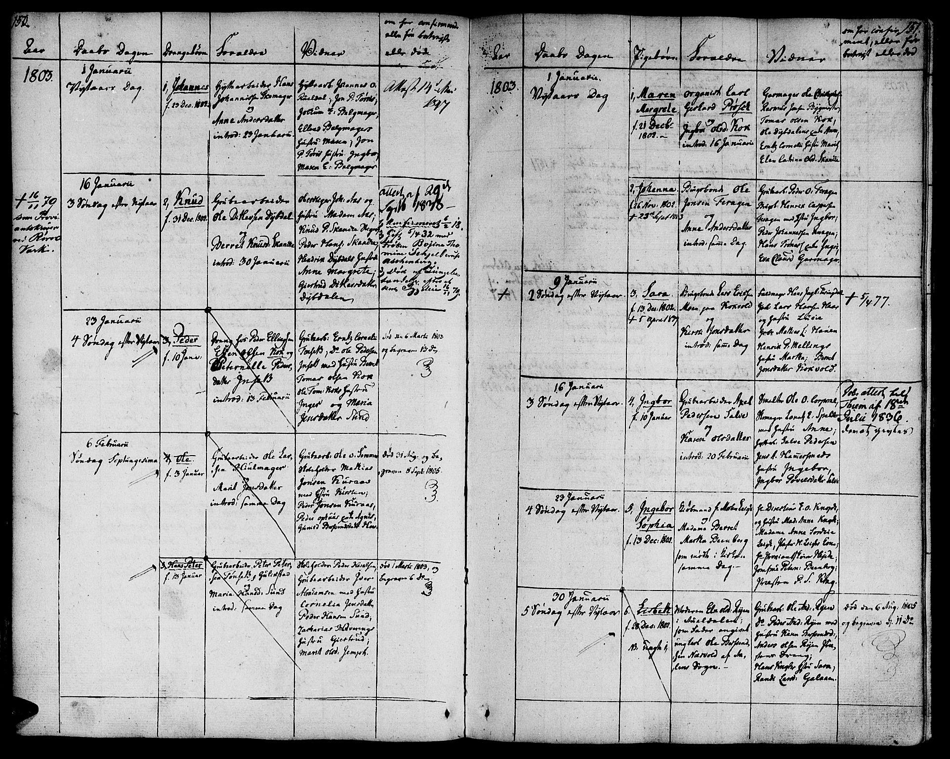 SAT, Ministerialprotokoller, klokkerbøker og fødselsregistre - Sør-Trøndelag, 681/L0927: Ministerialbok nr. 681A05, 1798-1808, s. 150-151