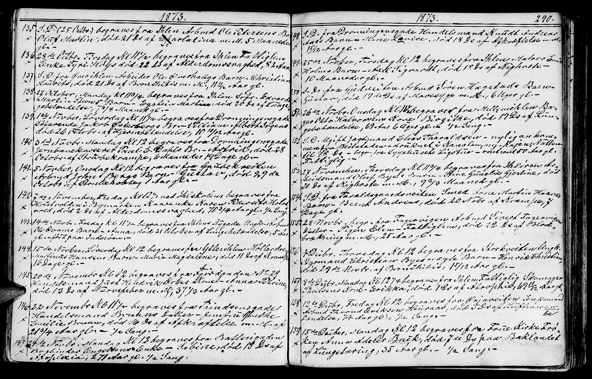 SAT, Ministerialprotokoller, klokkerbøker og fødselsregistre - Sør-Trøndelag, 602/L0142: Klokkerbok nr. 602C10, 1872-1894, s. 290