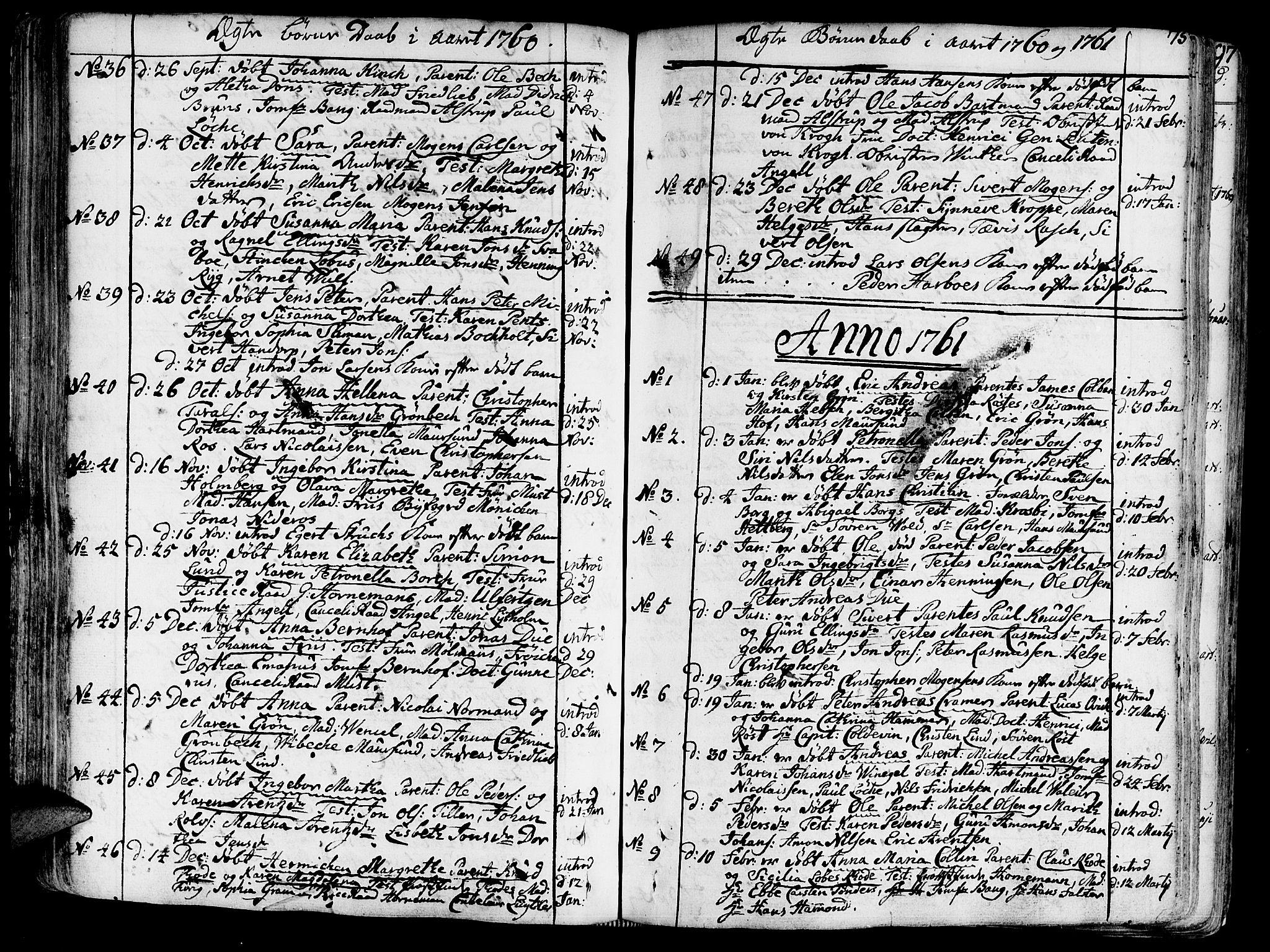 SAT, Ministerialprotokoller, klokkerbøker og fødselsregistre - Sør-Trøndelag, 602/L0103: Ministerialbok nr. 602A01, 1732-1774, s. 75