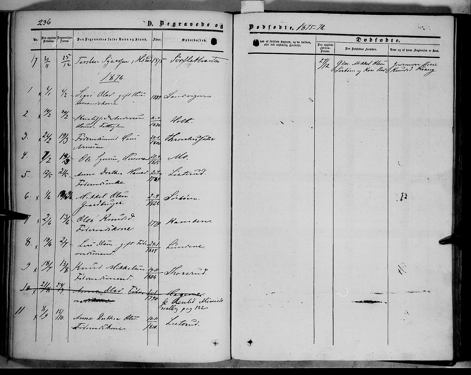 SAH, Sør-Aurdal prestekontor, Ministerialbok nr. 5, 1849-1876, s. 236