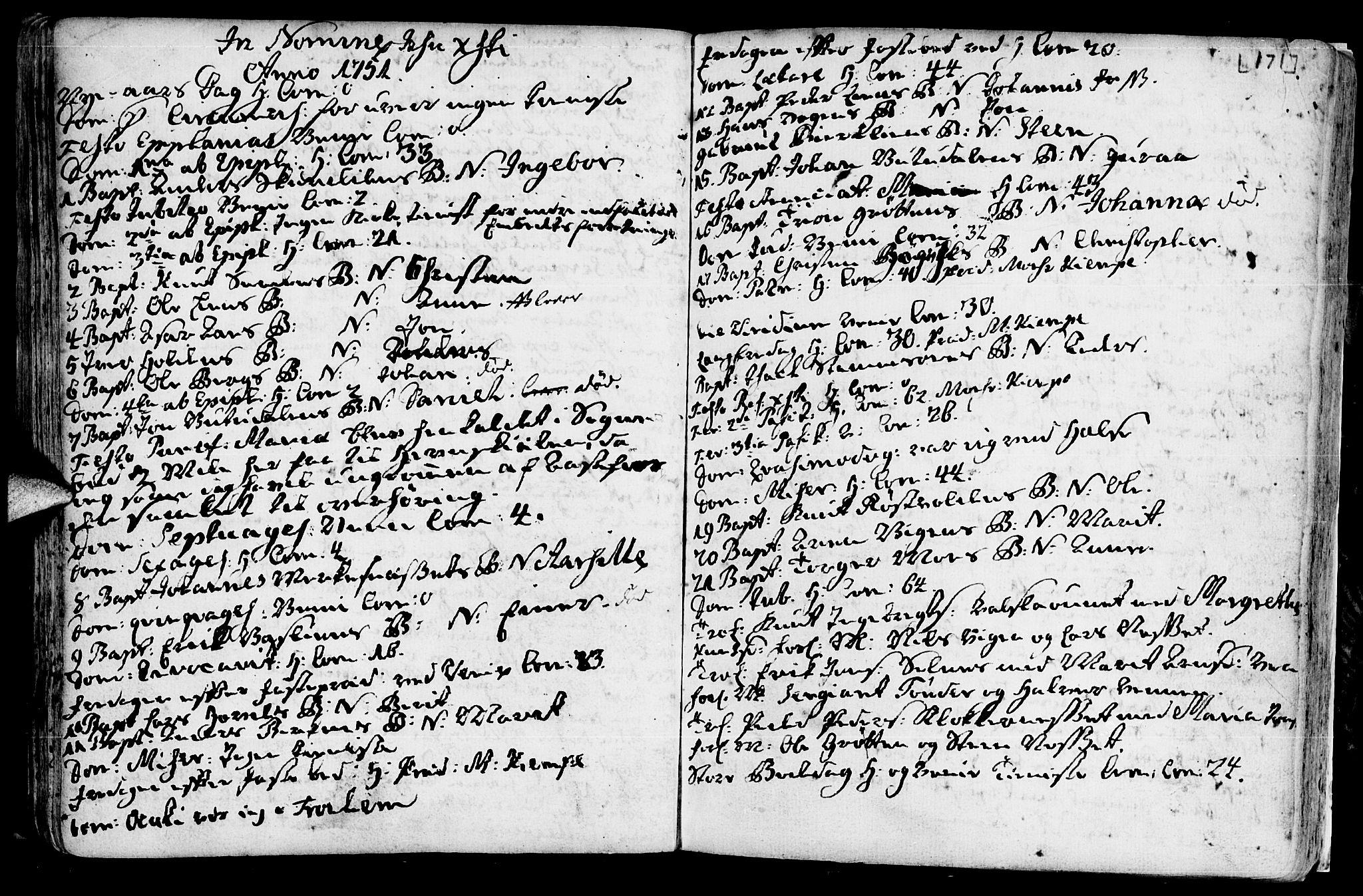 SAT, Ministerialprotokoller, klokkerbøker og fødselsregistre - Sør-Trøndelag, 630/L0488: Ministerialbok nr. 630A01, 1717-1756, s. 170-171