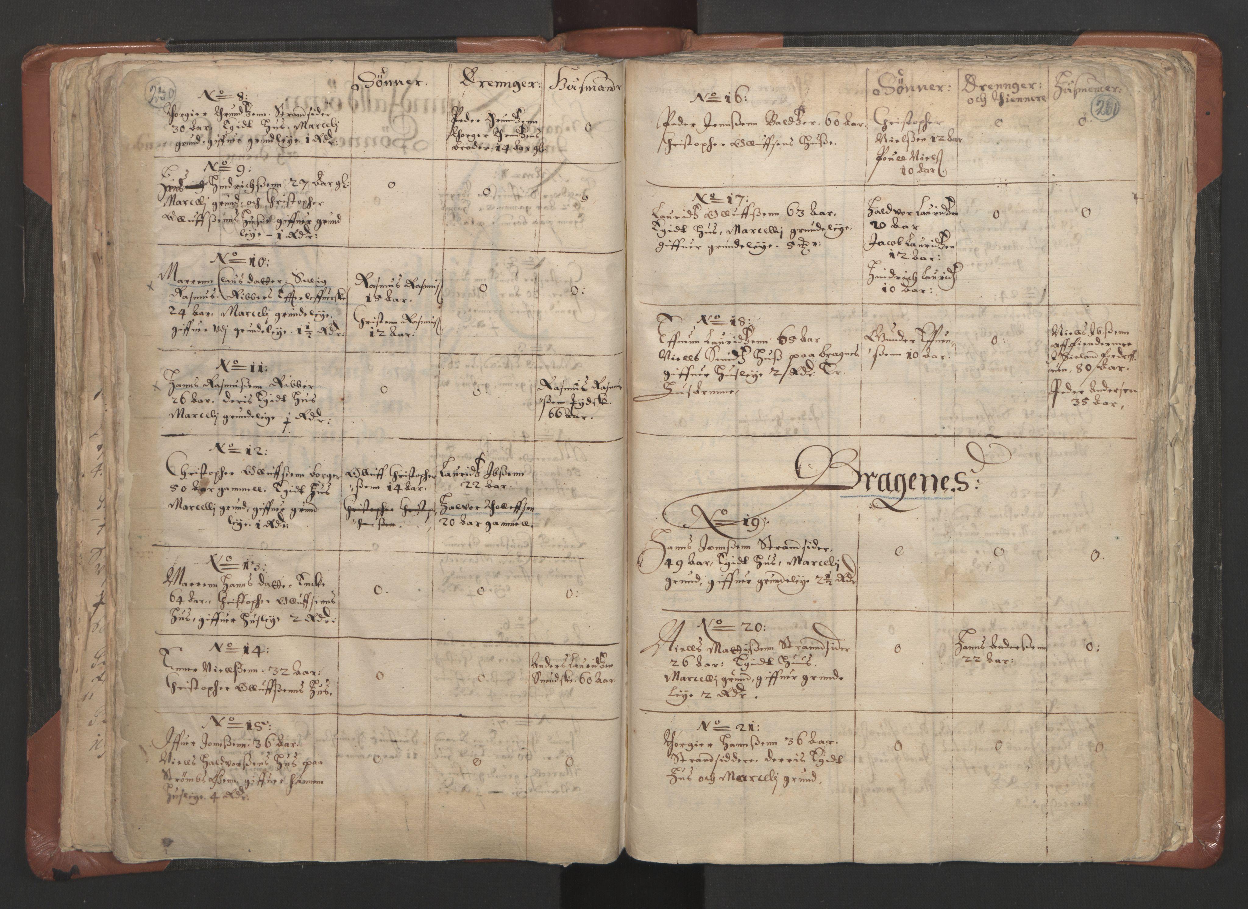 RA, Sogneprestenes manntall 1664-1666, nr. 9: Bragernes prosti, 1664-1666, s. 260-261