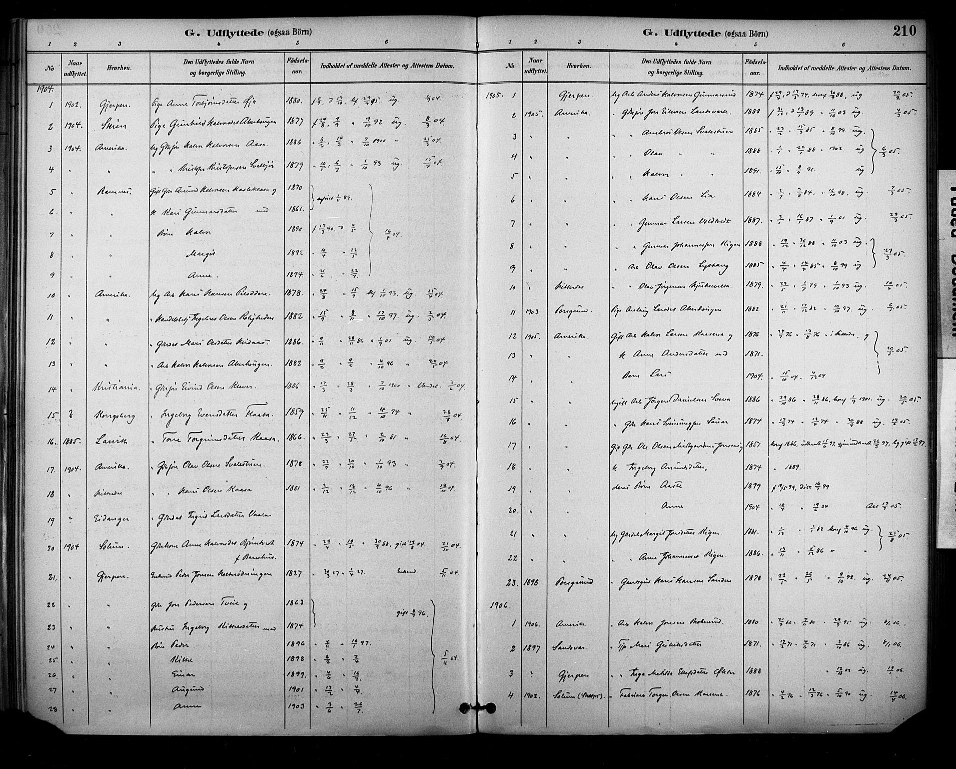 SAKO, Sauherad kirkebøker, F/Fa/L0009: Ministerialbok nr. I 9, 1887-1912, s. 210