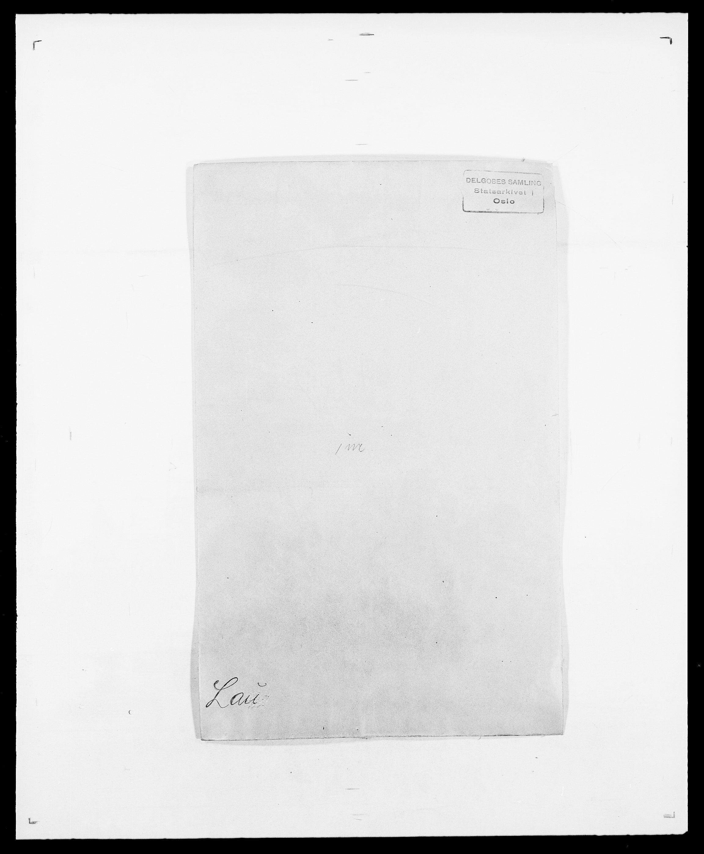 SAO, Delgobe, Charles Antoine - samling, D/Da/L0023: Lau - Lirvyn, s. 1