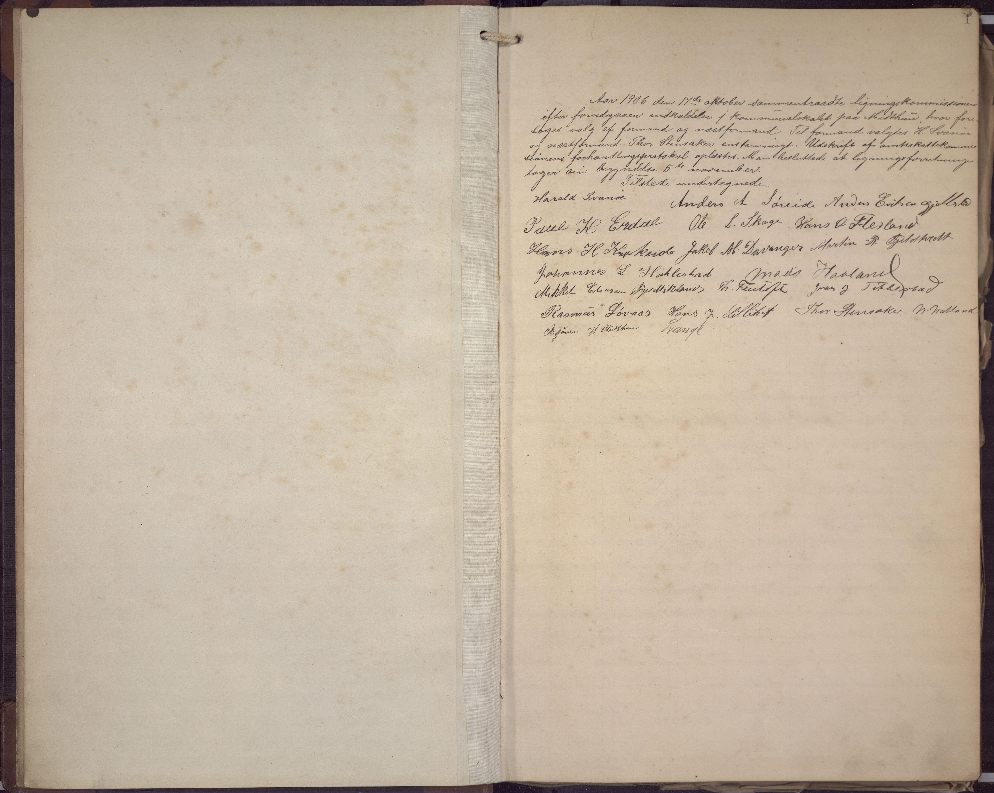 BBA, Fana kommune. Herredskassereren, J/Jc/L0008: Skattelister/ligningsprotokoll, 1906-1909, s. 3