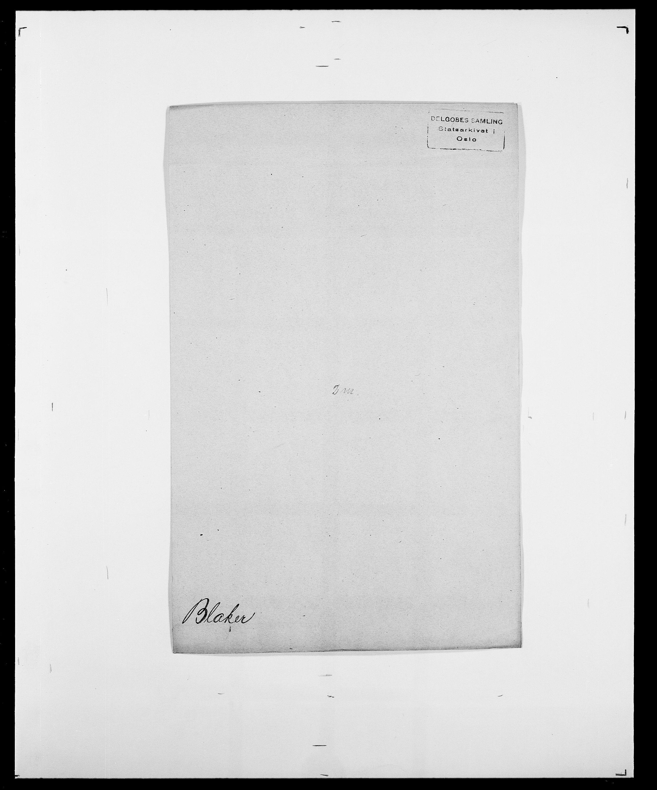SAO, Delgobe, Charles Antoine - samling, D/Da/L0004: Bergendahl - Blære, s. 522