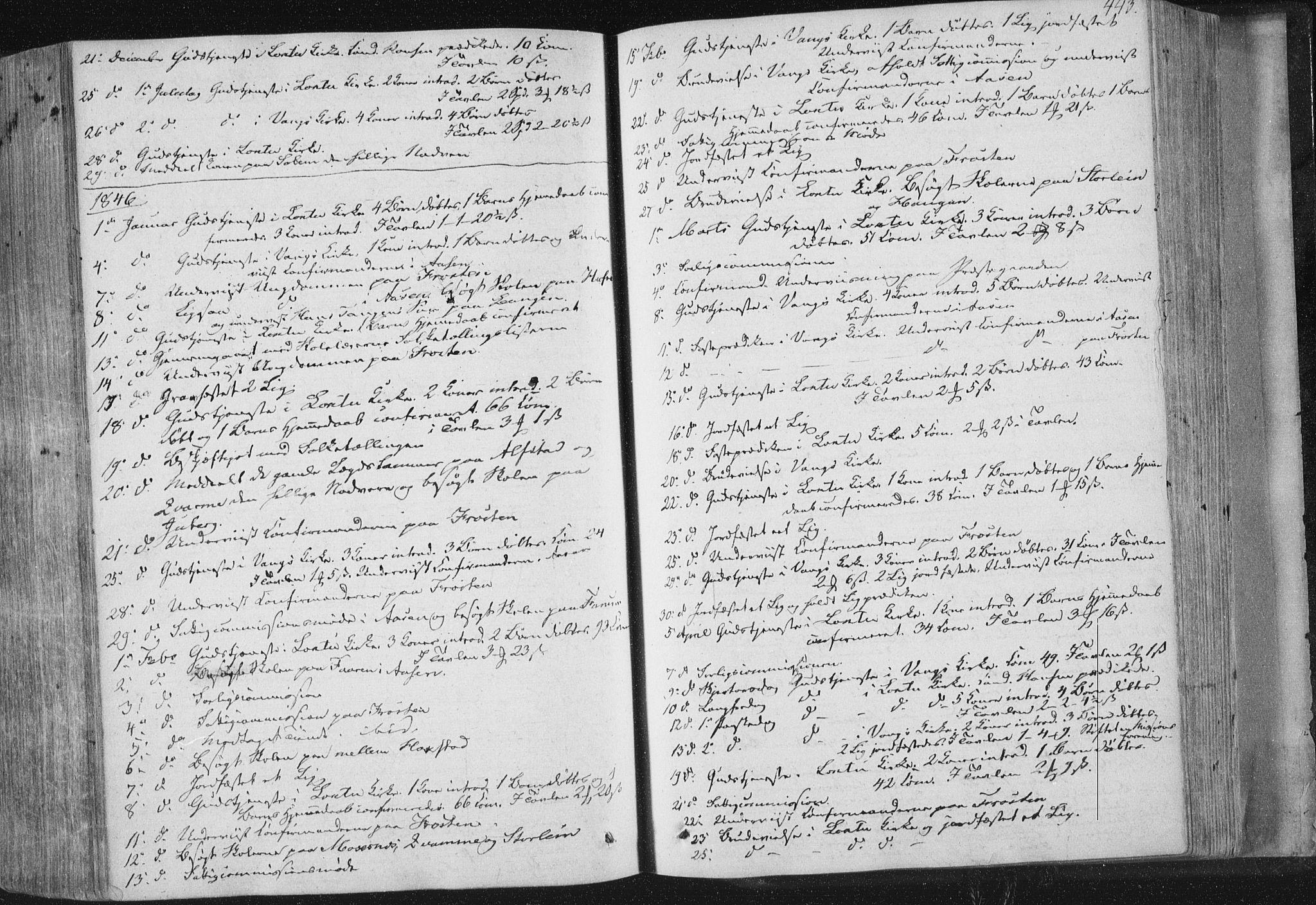 SAT, Ministerialprotokoller, klokkerbøker og fødselsregistre - Nord-Trøndelag, 713/L0115: Ministerialbok nr. 713A06, 1838-1851, s. 443