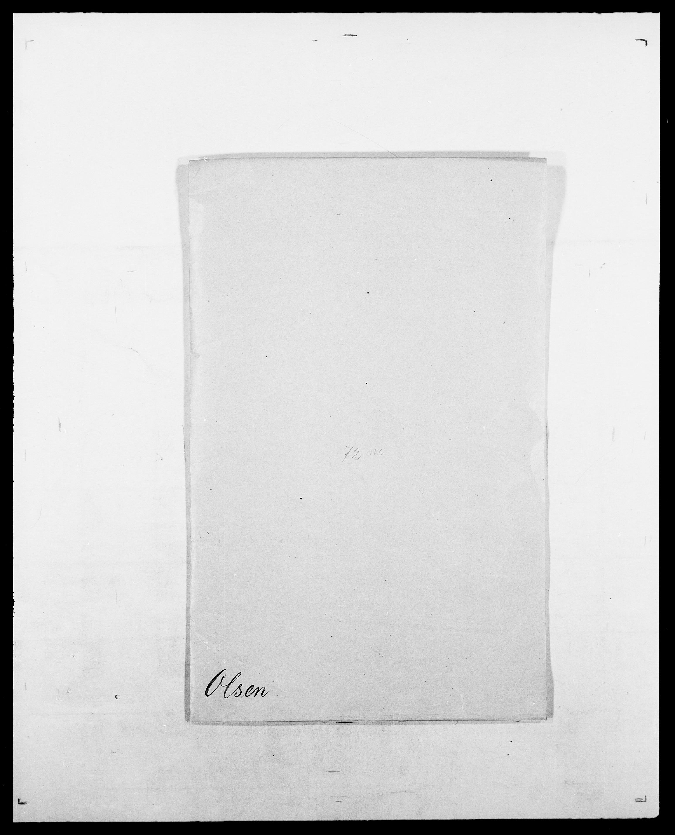 SAO, Delgobe, Charles Antoine - samling, D/Da/L0029: Obel - Oxholm, s. 166