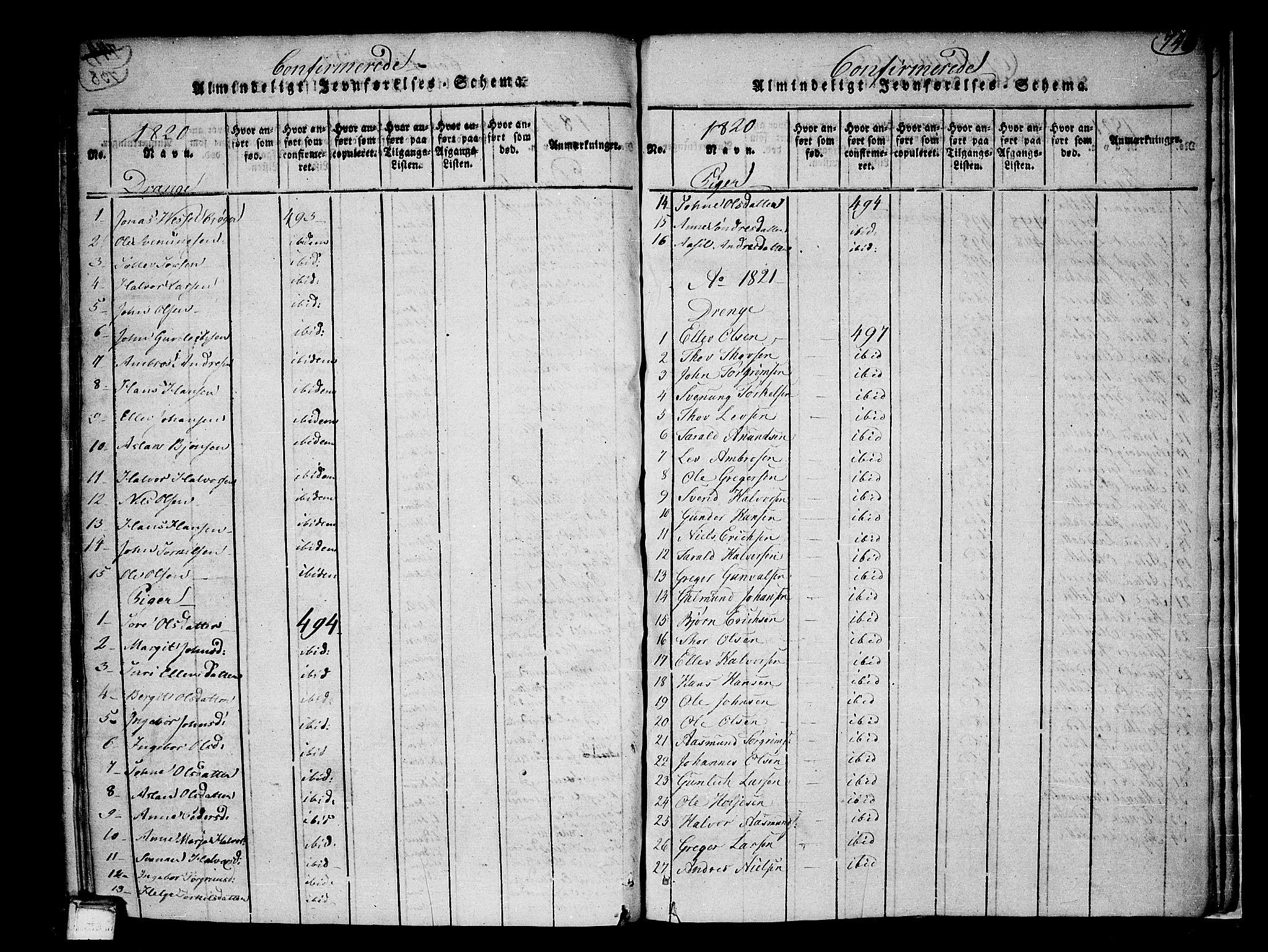 SAKO, Heddal kirkebøker, F/Fa/L0005: Ministerialbok nr. I 5, 1814-1837, s. 739-740