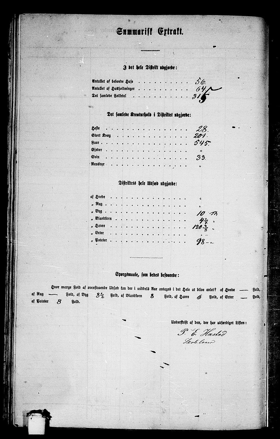 RA, Folketelling 1865 for 1548P Fræna prestegjeld, 1865, s. 25