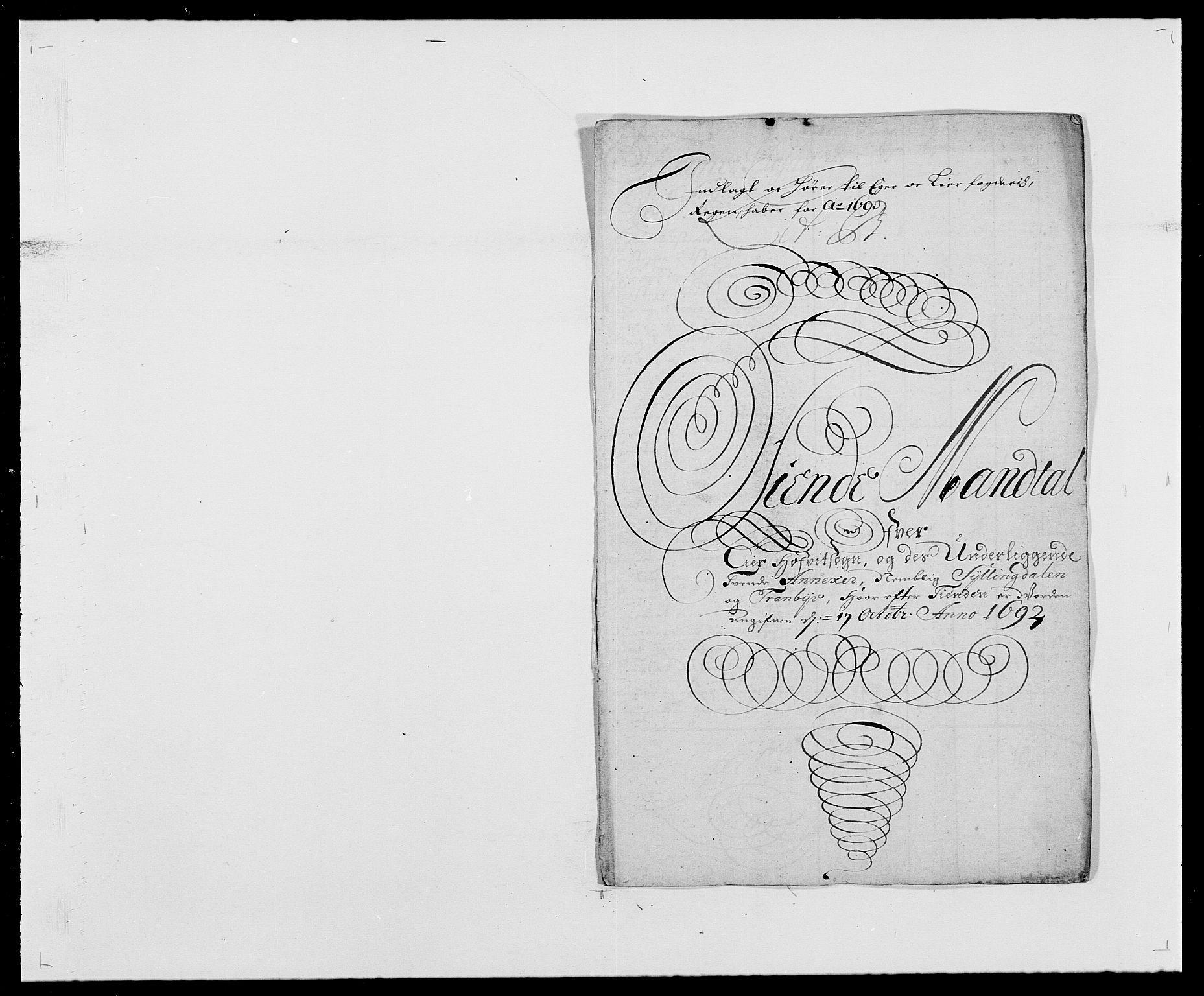 RA, Rentekammeret inntil 1814, Reviderte regnskaper, Fogderegnskap, R28/L1690: Fogderegnskap Eiker og Lier, 1692-1693, s. 139