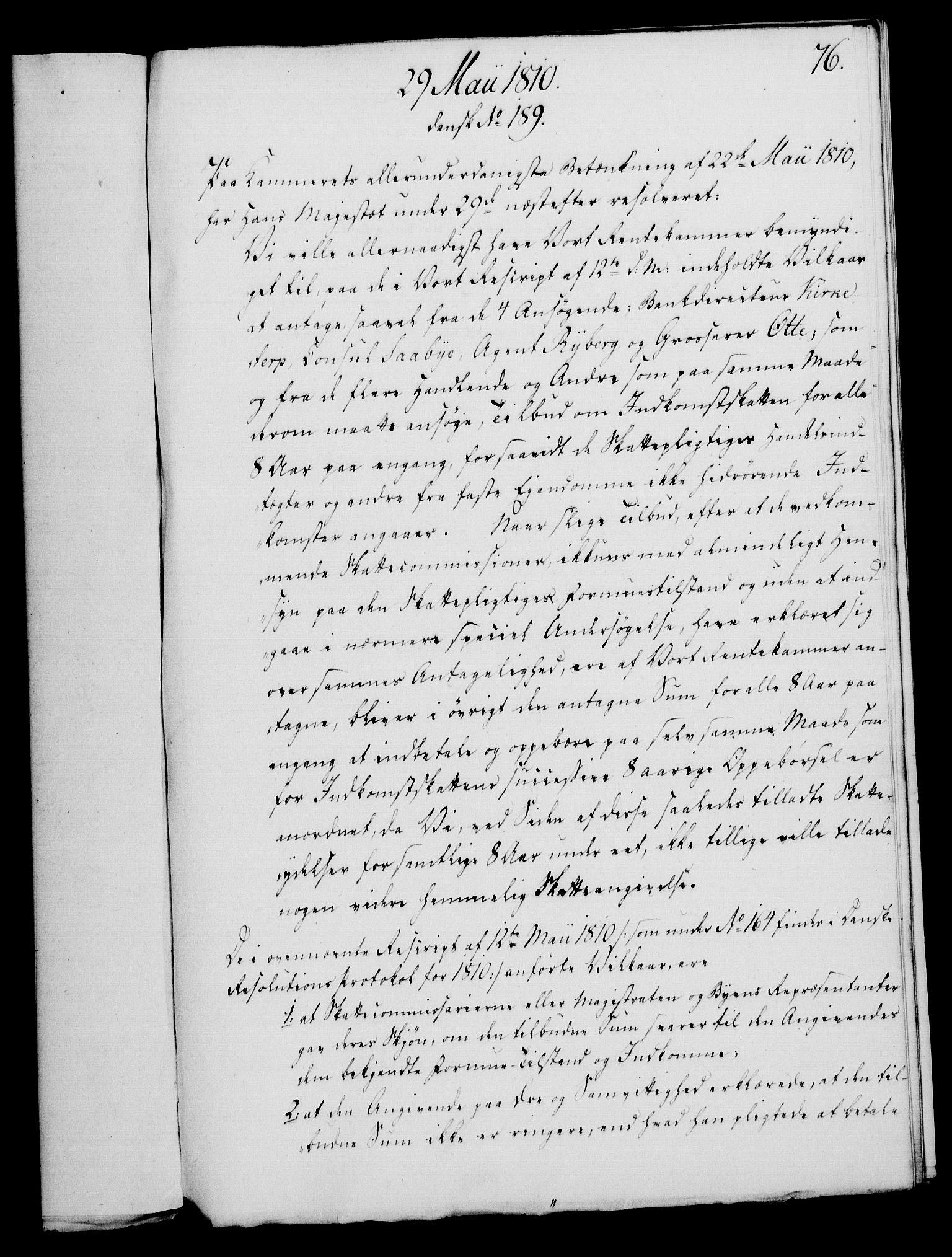 RA, Rentekammeret, Kammerkanselliet, G/Gf/Gfa/L0092: Norsk relasjons- og resolusjonsprotokoll (merket RK 52.92), 1810, s. 291