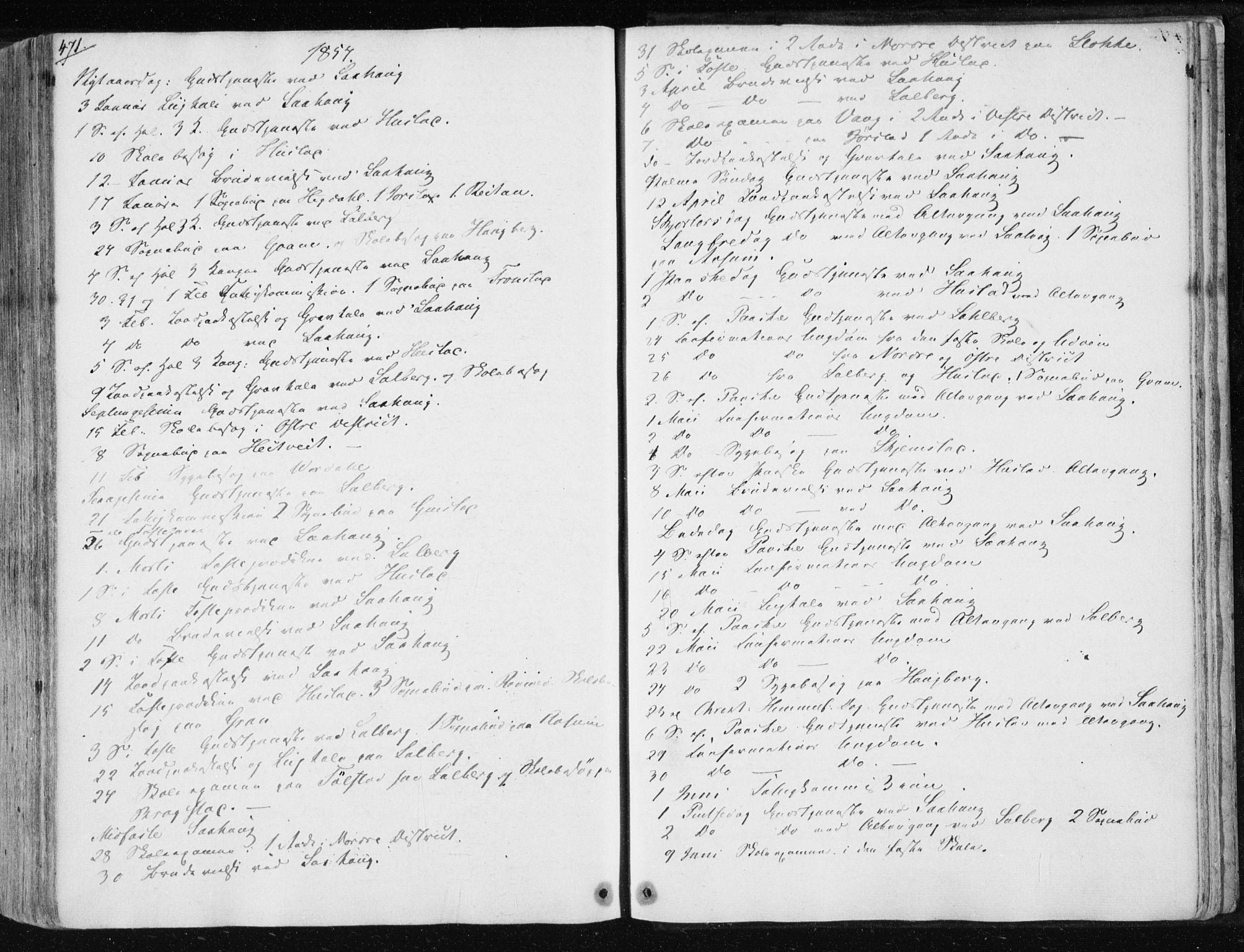 SAT, Ministerialprotokoller, klokkerbøker og fødselsregistre - Nord-Trøndelag, 730/L0280: Ministerialbok nr. 730A07 /1, 1840-1854, s. 471