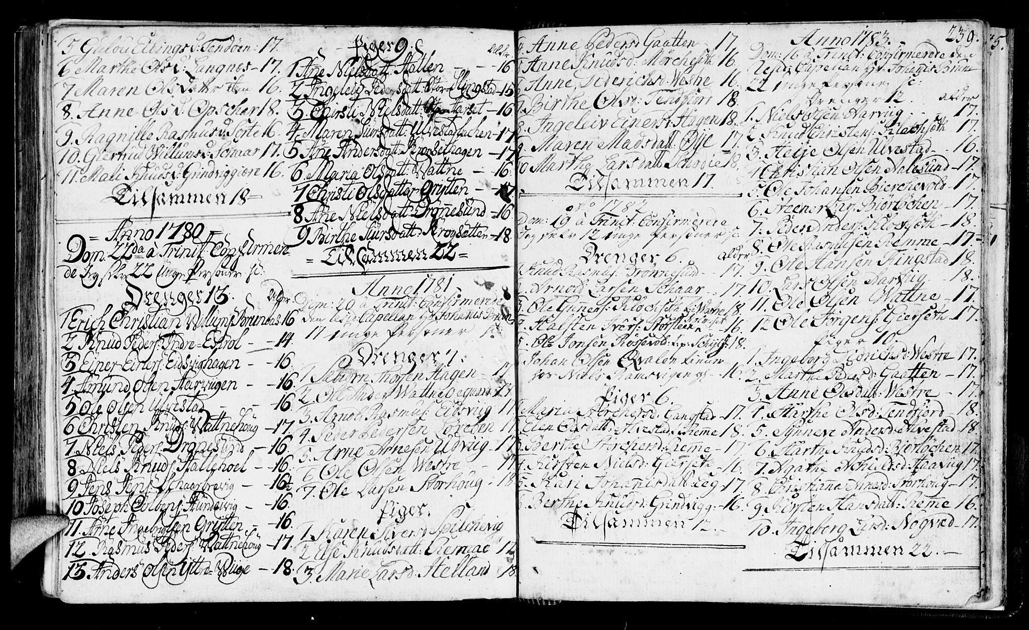 SAT, Ministerialprotokoller, klokkerbøker og fødselsregistre - Møre og Romsdal, 525/L0372: Ministerialbok nr. 525A02, 1778-1817, s. 239