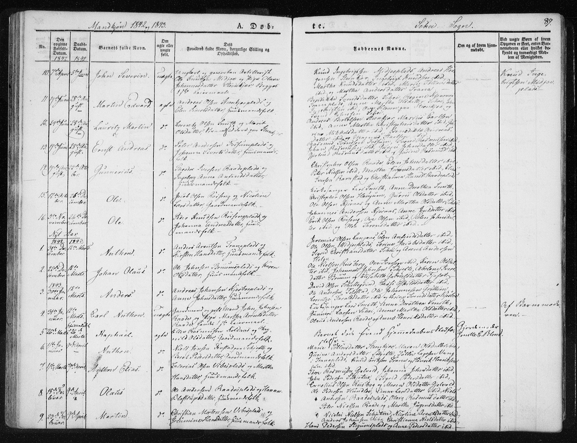 SAT, Ministerialprotokoller, klokkerbøker og fødselsregistre - Nord-Trøndelag, 735/L0339: Ministerialbok nr. 735A06 /2, 1836-1848, s. 87