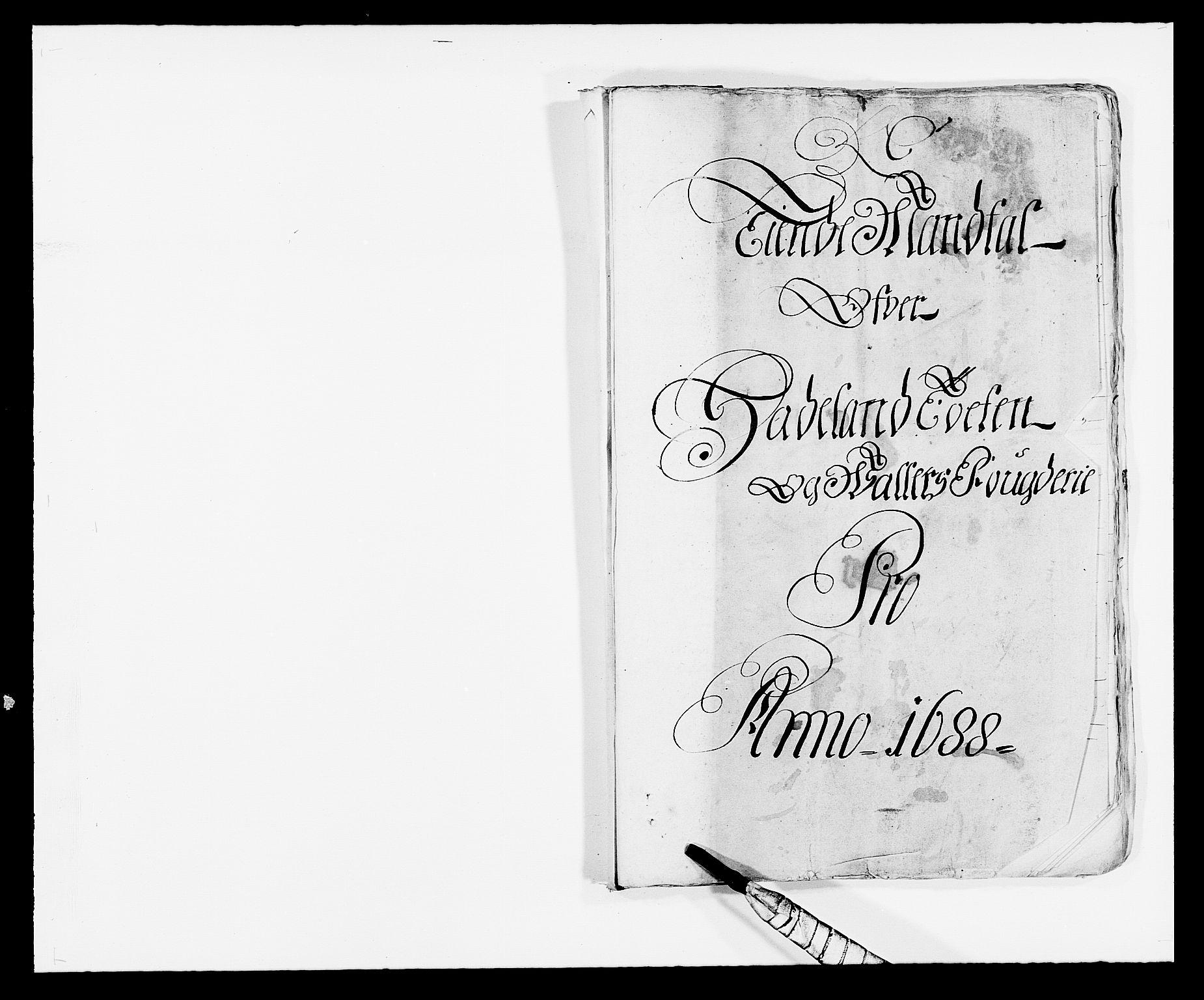RA, Rentekammeret inntil 1814, Reviderte regnskaper, Fogderegnskap, R18/L1287: Fogderegnskap Hadeland, Toten og Valdres, 1688, s. 158