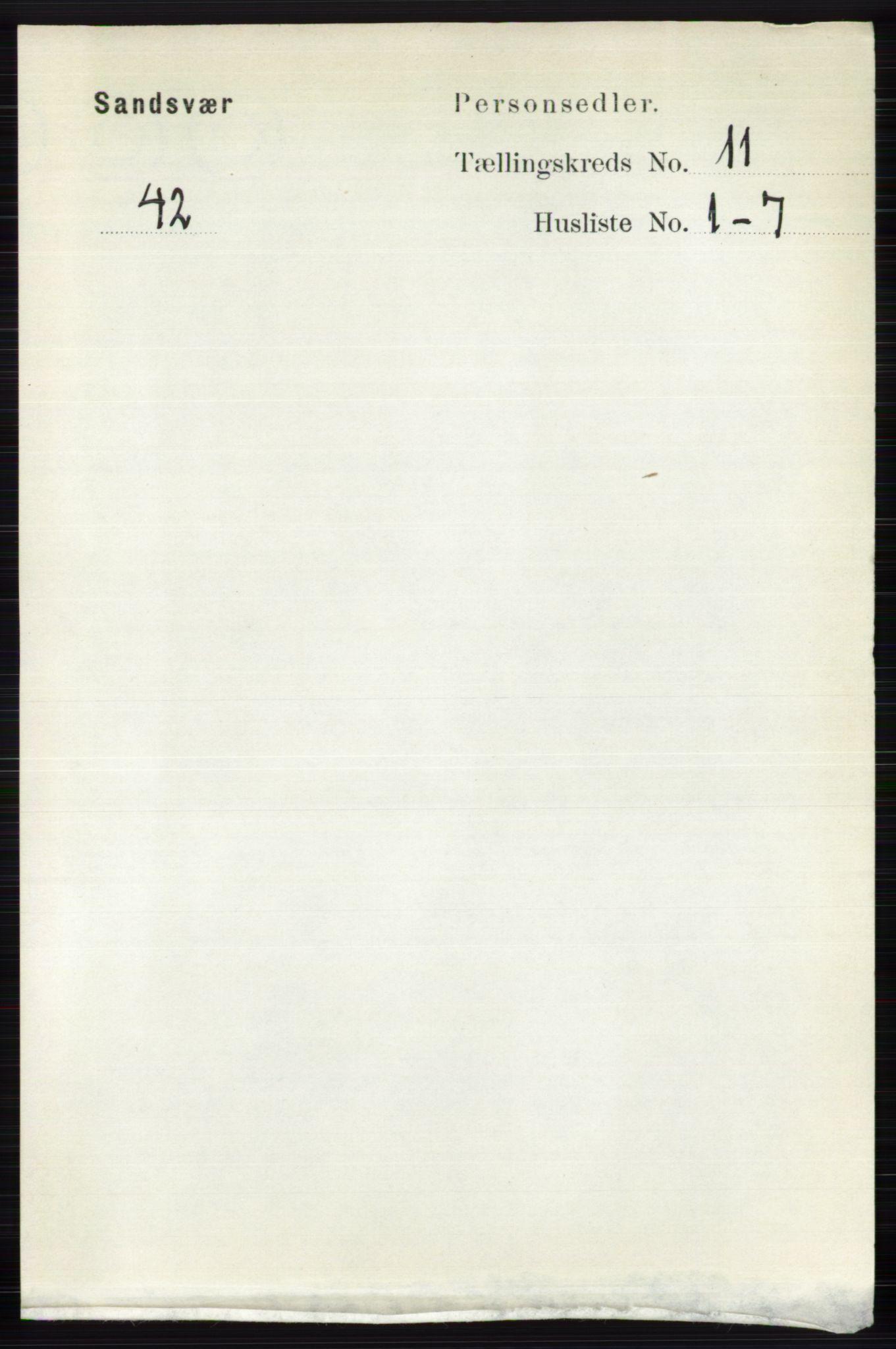 RA, Folketelling 1891 for 0629 Sandsvær herred, 1891, s. 5483