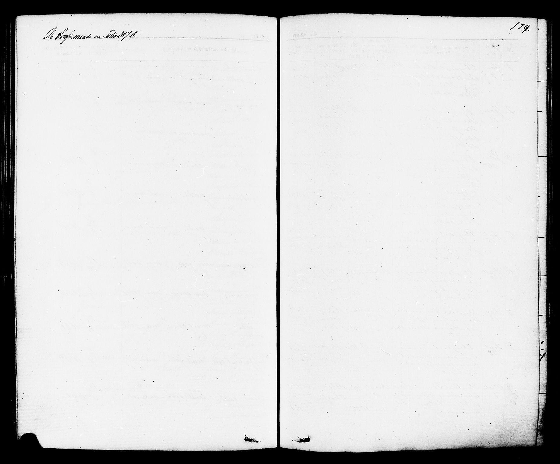 SAKO, Brevik kirkebøker, F/Fa/L0006: Ministerialbok nr. 6, 1866-1881, s. 179