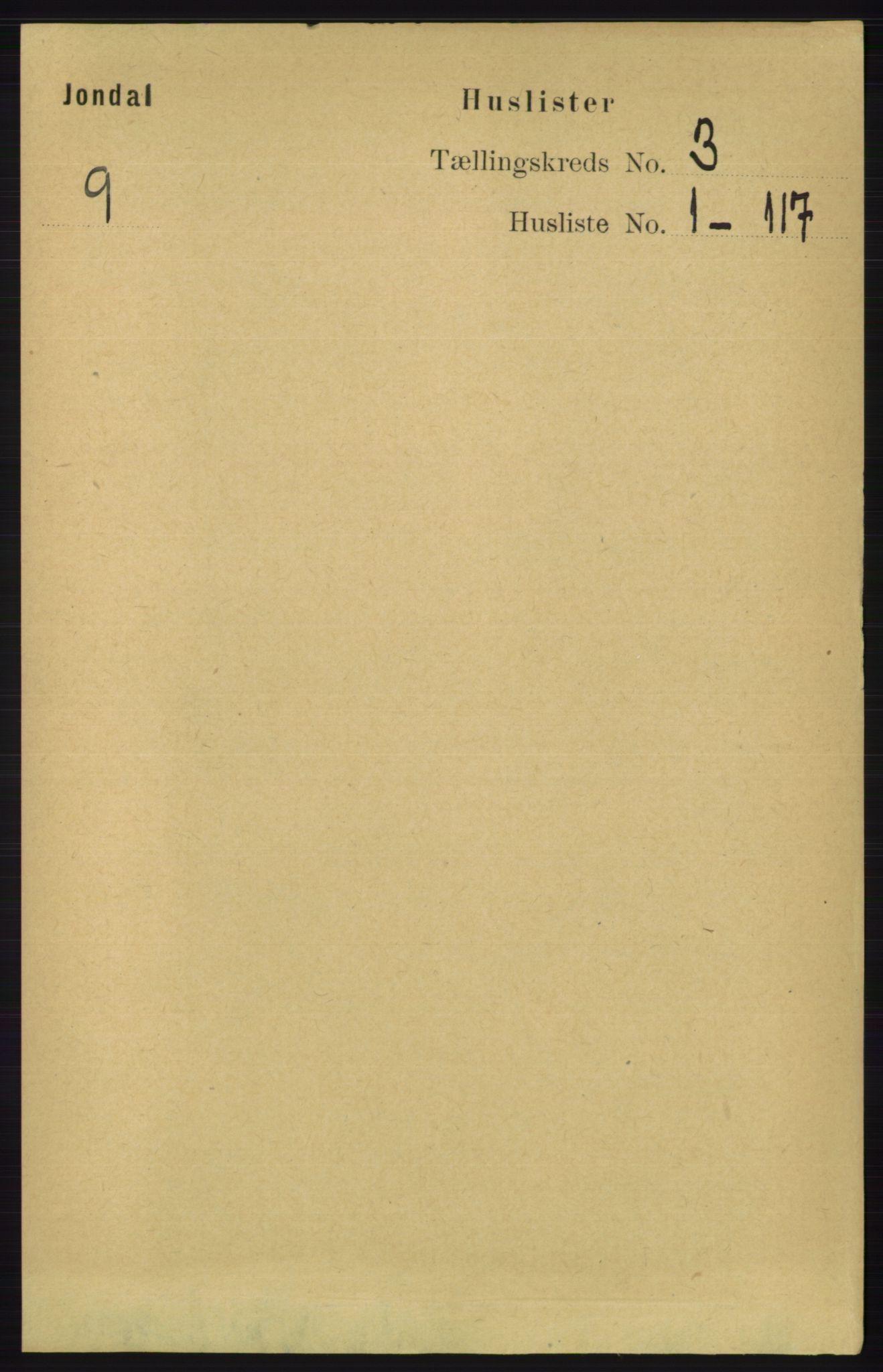 RA, Folketelling 1891 for 1227 Jondal herred, 1891, s. 1178