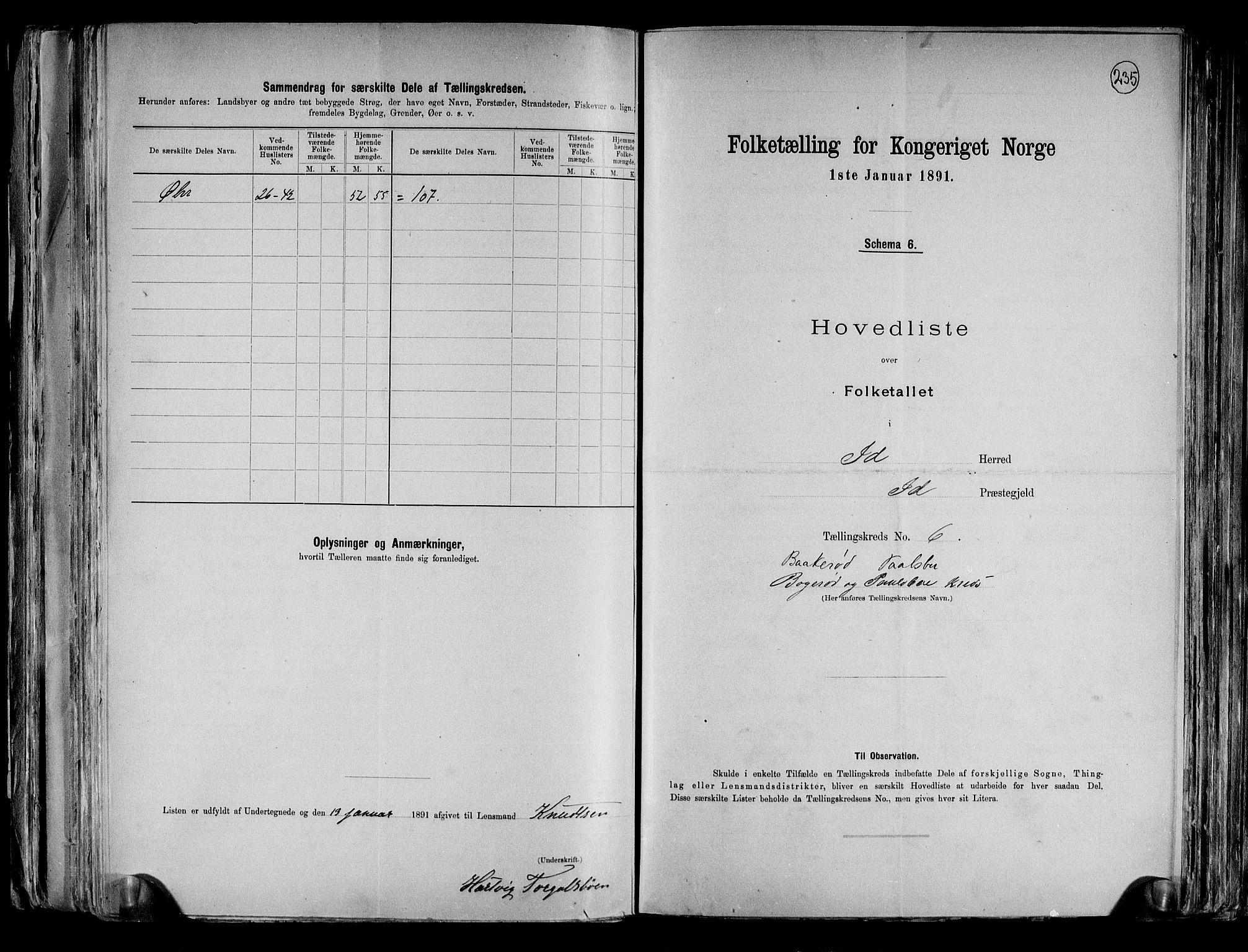 RA, Folketelling 1891 for 0117 Idd herred, 1891, s. 16