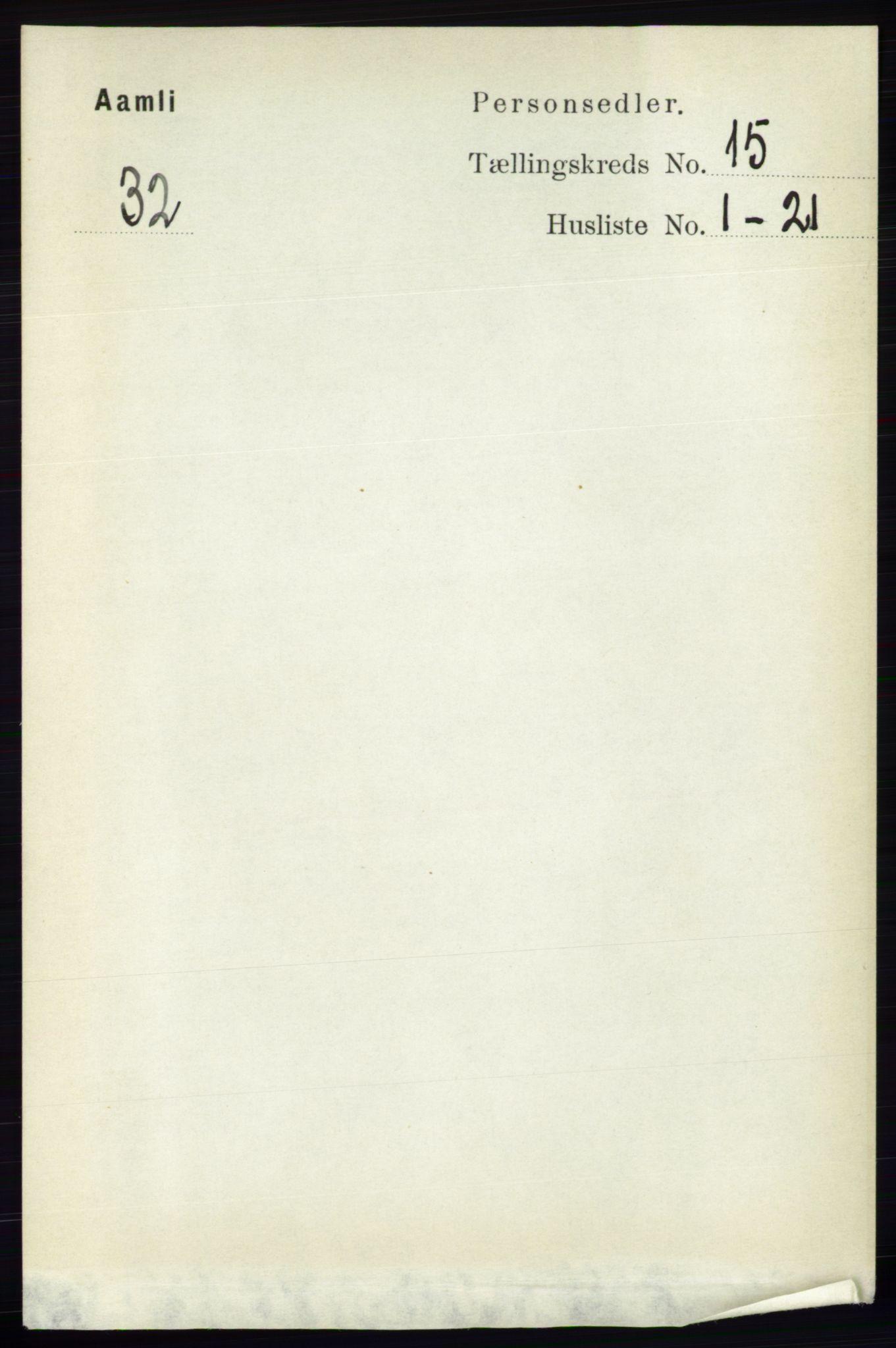 RA, Folketelling 1891 for 0929 Åmli herred, 1891, s. 2542