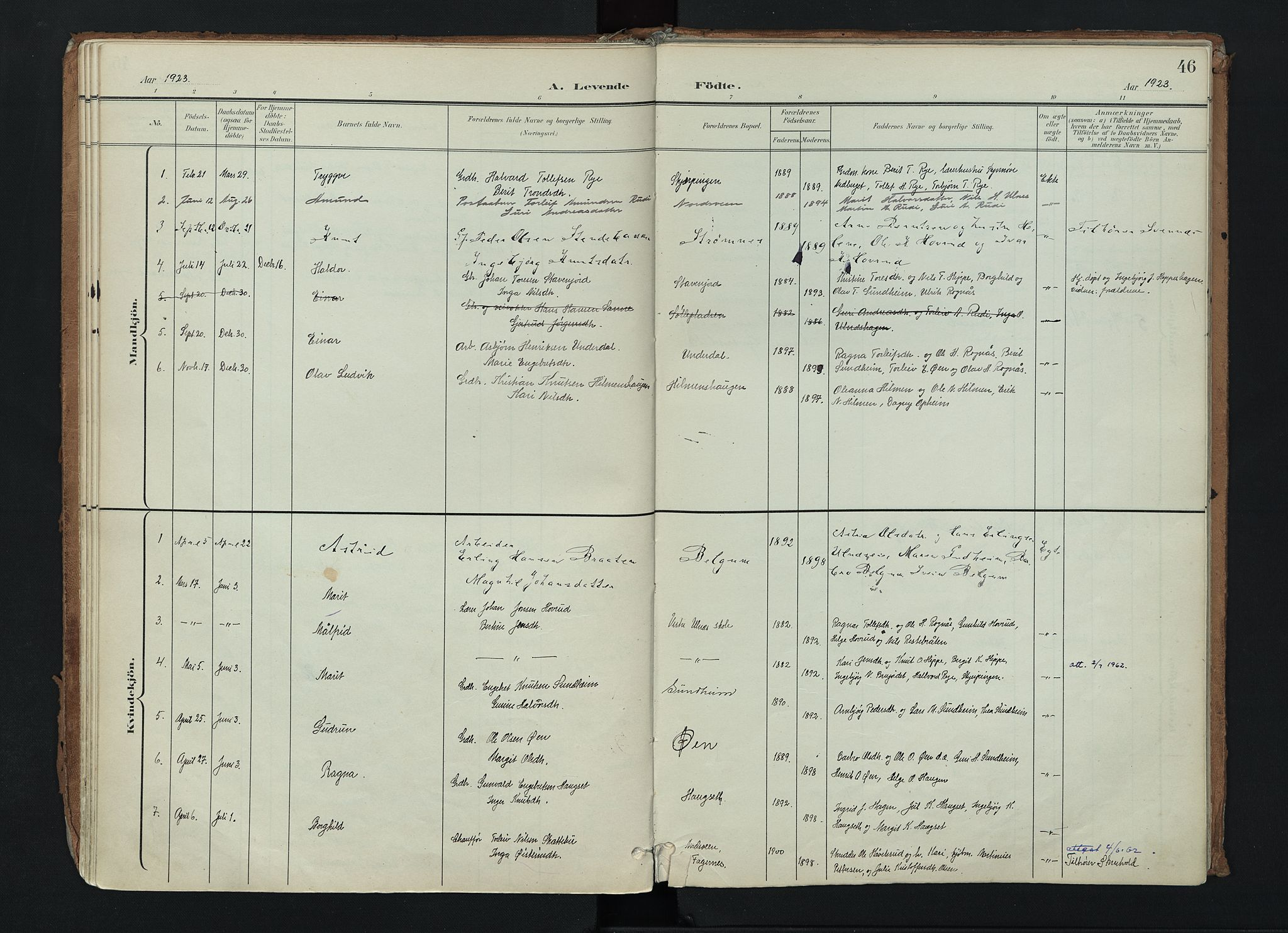 SAH, Nord-Aurdal prestekontor, Ministerialbok nr. 17, 1897-1926, s. 46