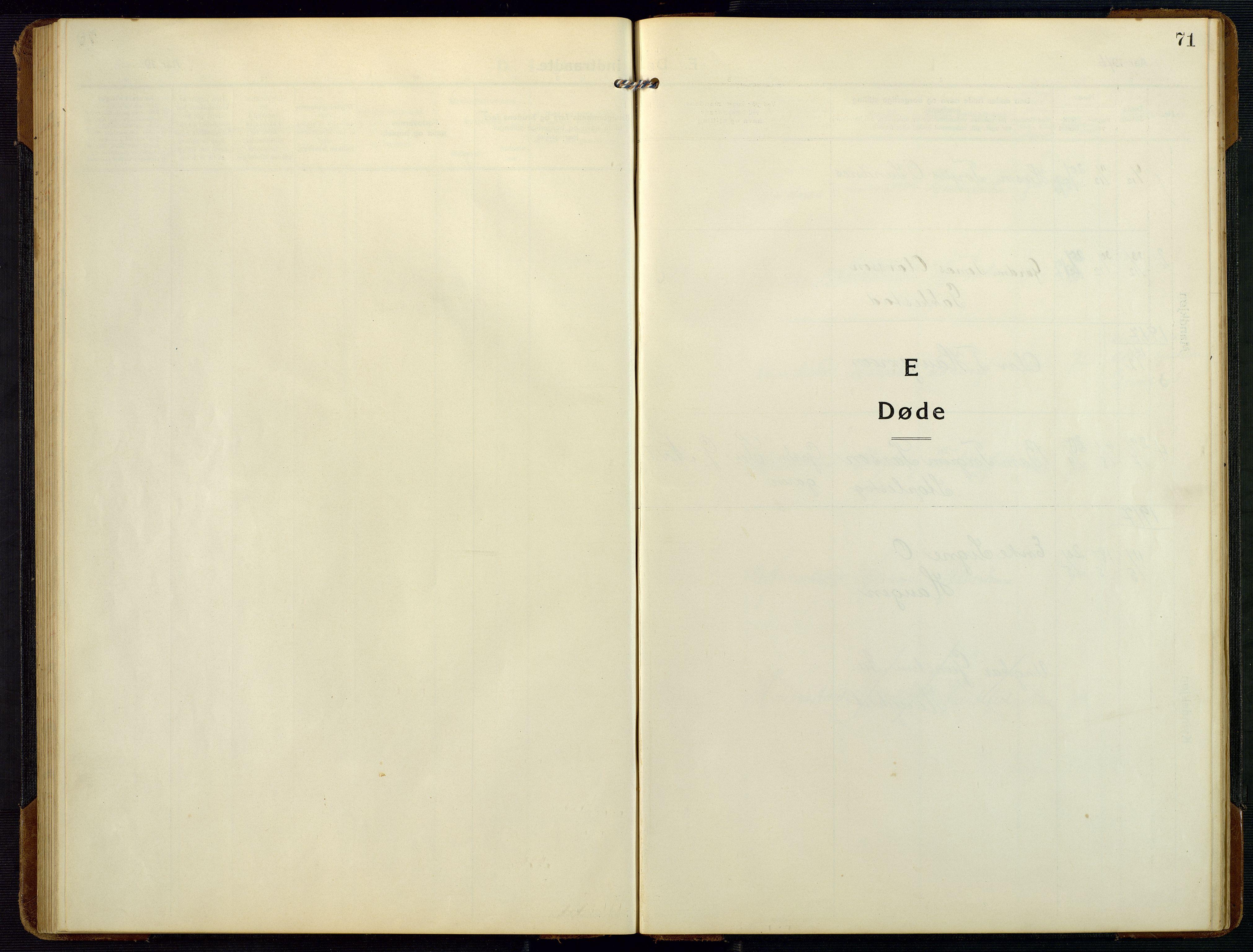 SAK, Bygland sokneprestkontor, F/Fb/Fbc/L0003: Klokkerbok nr. B 3, 1916-1975, s. 71