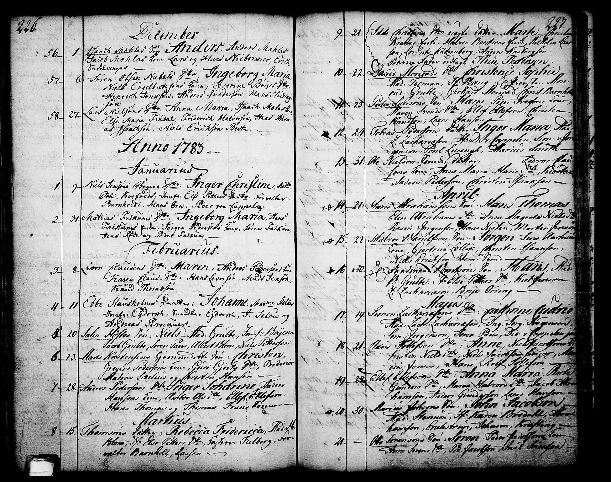 SAKO, Skien kirkebøker, F/Fa/L0003: Ministerialbok nr. 3, 1755-1791, s. 226-227
