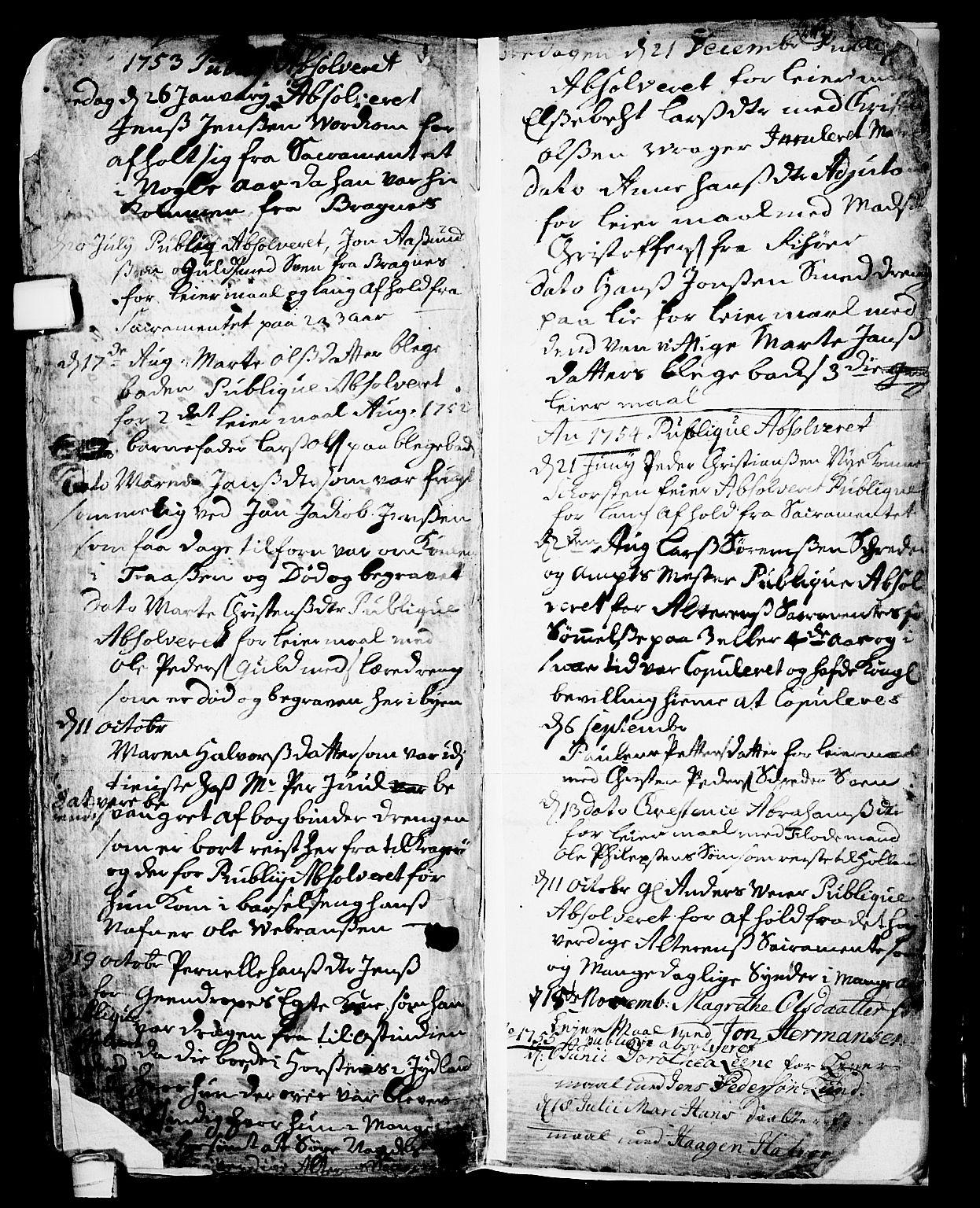 SAKO, Skien kirkebøker, F/Fa/L0002: Ministerialbok nr. 2, 1716-1757, s. 242