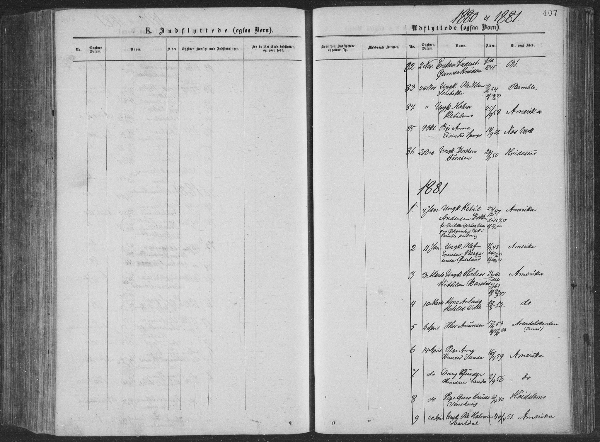 SAKO, Seljord kirkebøker, F/Fa/L0014: Ministerialbok nr. I 14, 1877-1886, s. 407