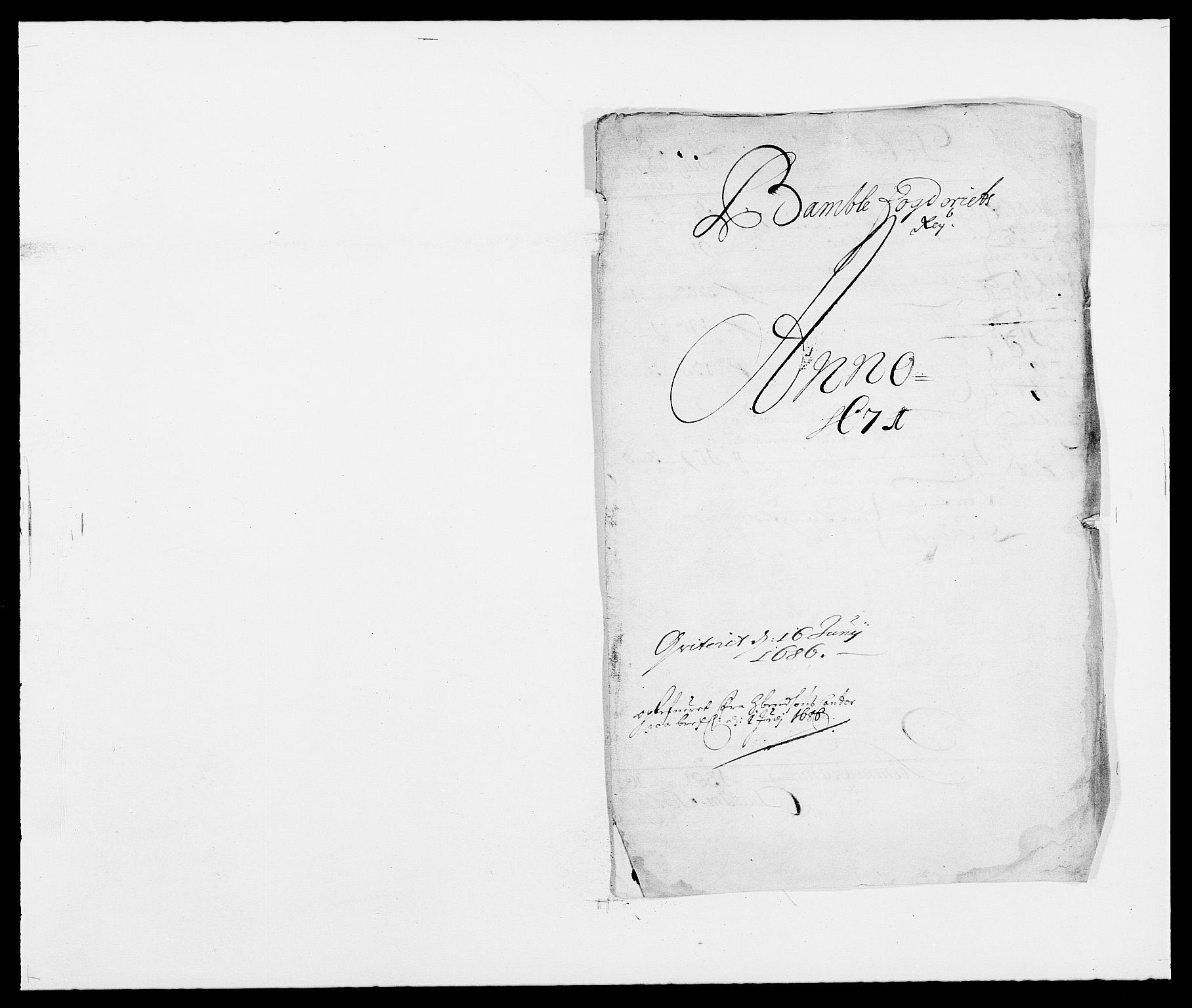RA, Rentekammeret inntil 1814, Reviderte regnskaper, Fogderegnskap, R34/L2041: Fogderegnskap Bamble, 1670-1672, s. 133