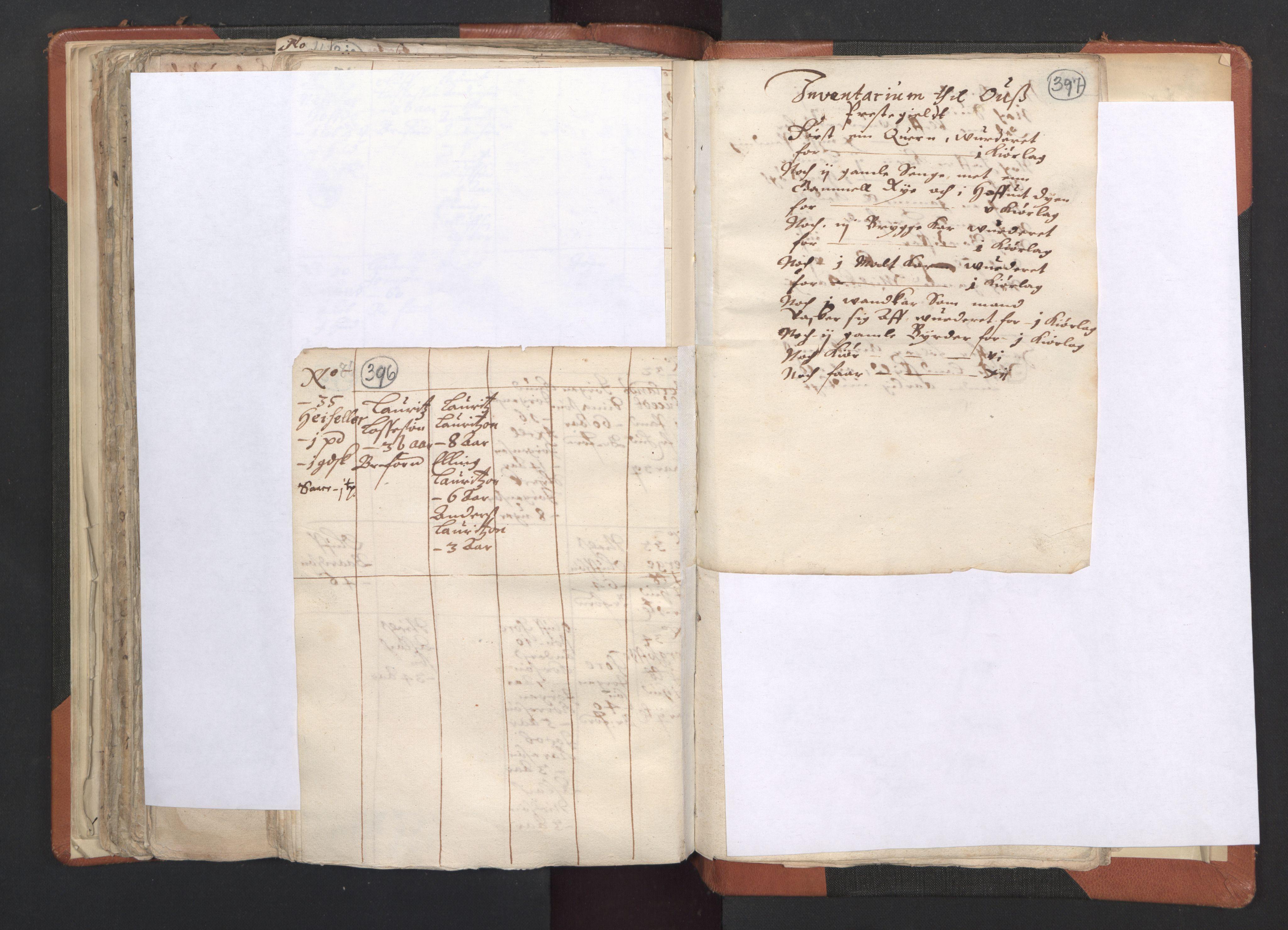 RA, Sogneprestenes manntall 1664-1666, nr. 20: Sunnhordland prosti, 1664-1666, s. 396-397