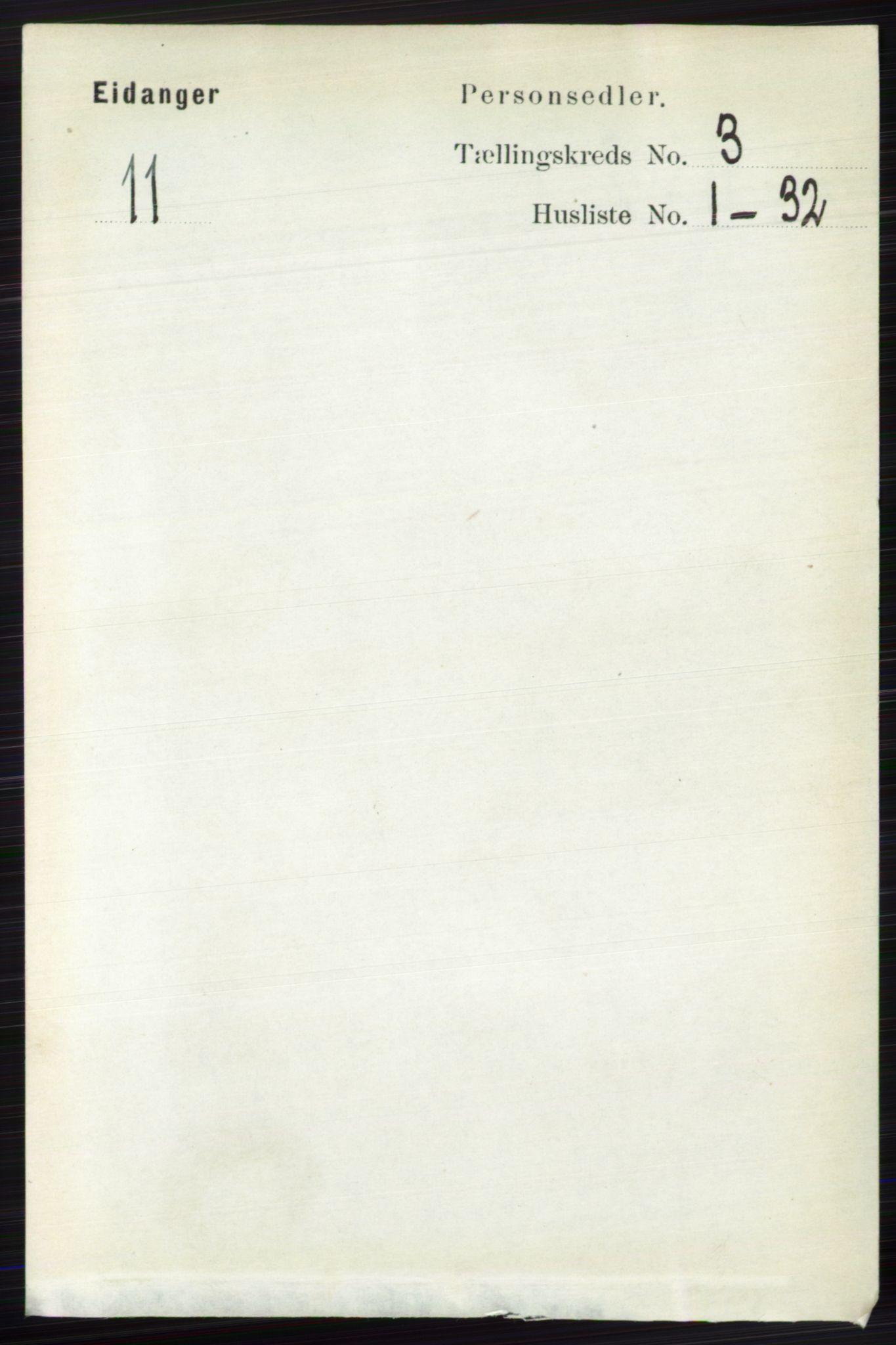RA, Folketelling 1891 for 0813 Eidanger herred, 1891, s. 1526