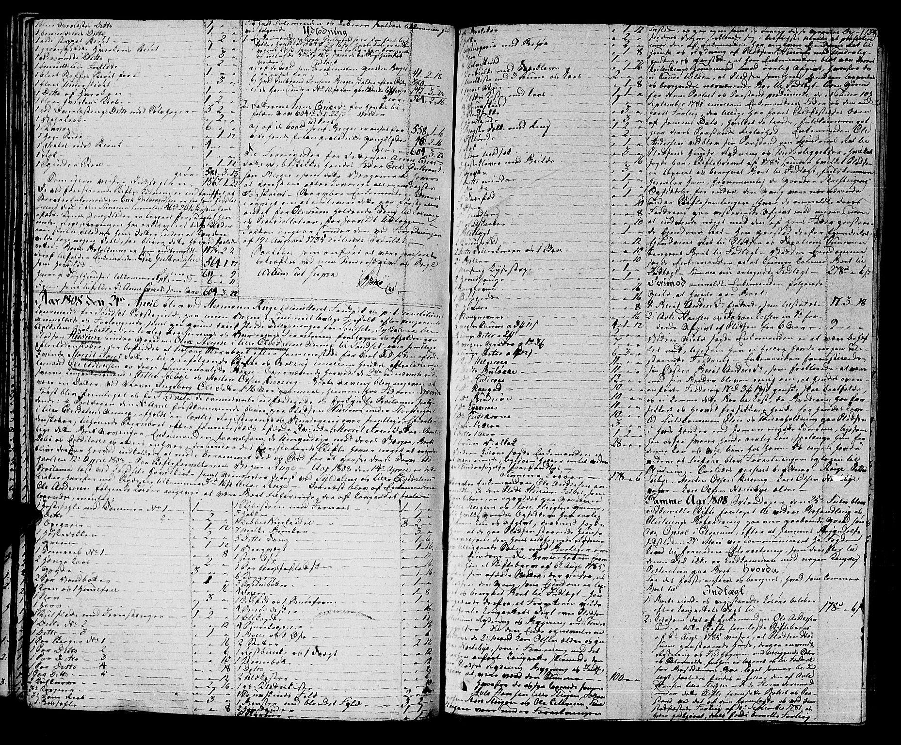 SAH, Østerdalen sorenskriveri, J/Ja/L0010: Skifteprotokoll, 1806-1810, s. 133b-134a