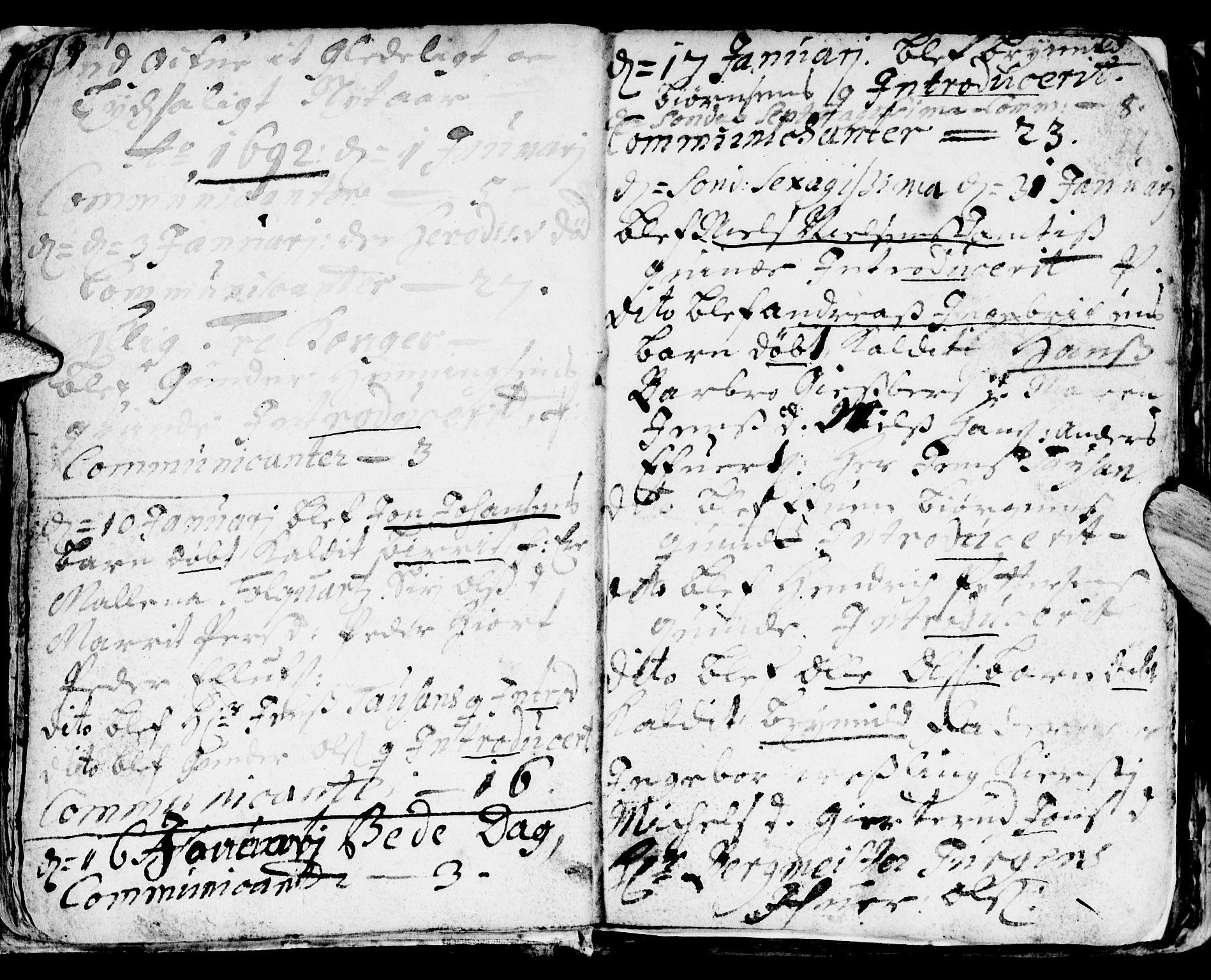 SAT, Ministerialprotokoller, klokkerbøker og fødselsregistre - Sør-Trøndelag, 681/L0923: Ministerialbok nr. 681A01, 1691-1700, s. 17