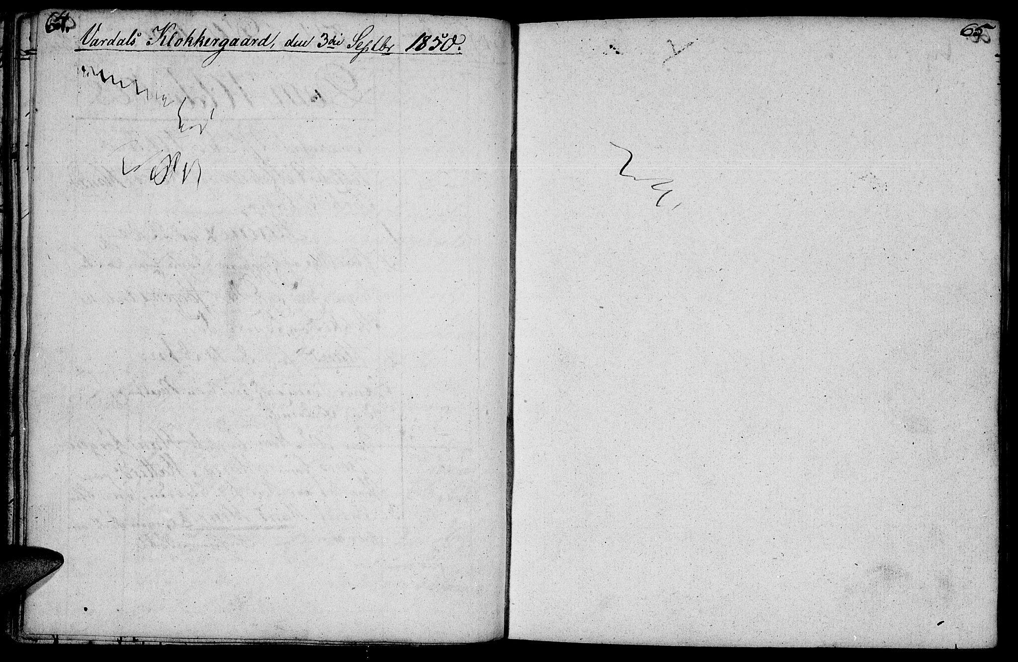 SAH, Vardal prestekontor, H/Ha/Hab/L0003: Klokkerbok nr. 3, 1803-1808, s. 64-65