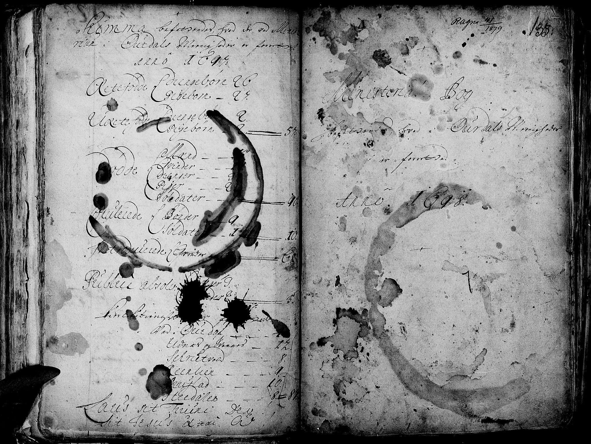 SAH, Aurdal prestekontor, Ministerialbok nr. 1-3, 1692-1730, s. 135